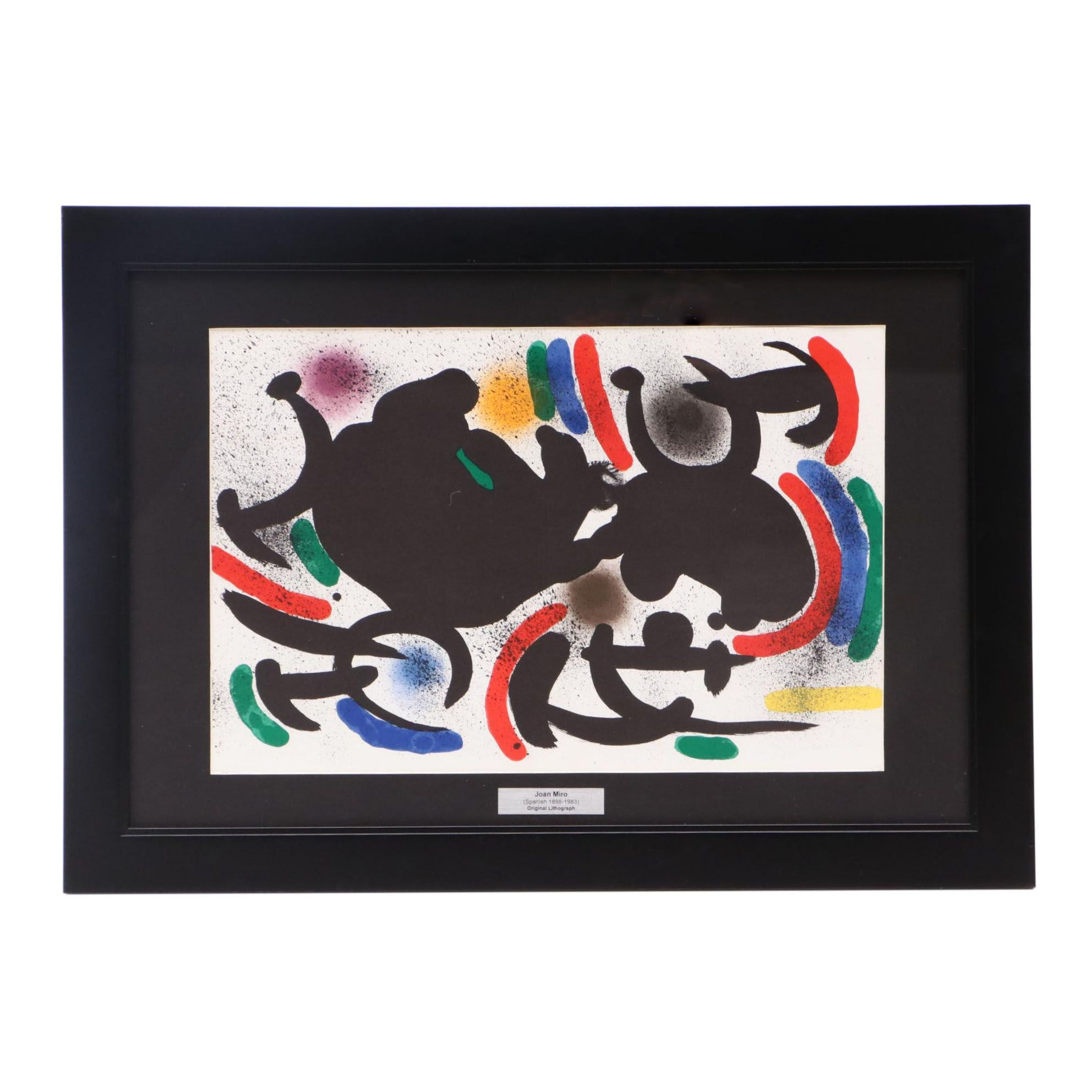 """Joan Miró Color Lithograph from """"Lithographs I"""""""
