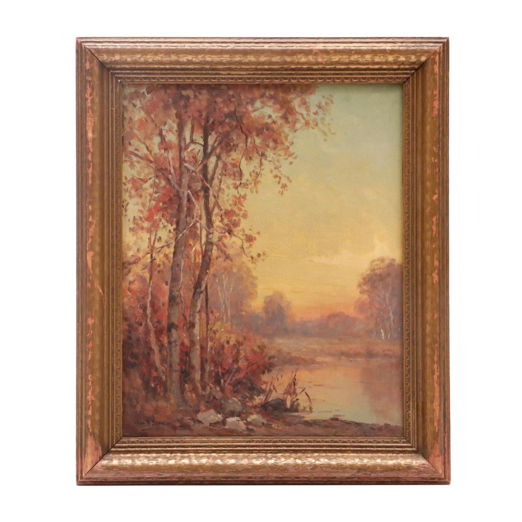 George F. Schultz Landscape Oil Painting