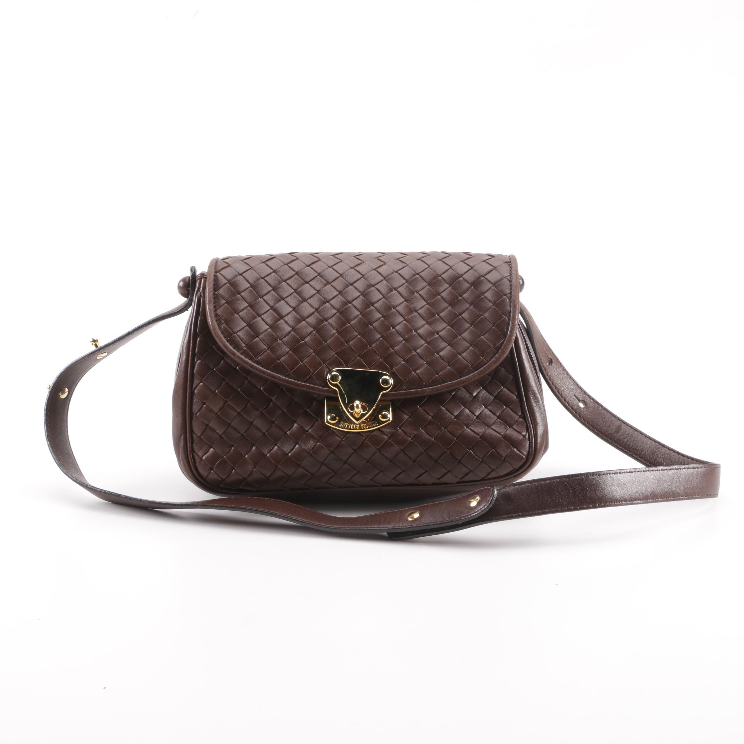 Bottega Veneta Intrecciato Brown Leather Shoulder Bag