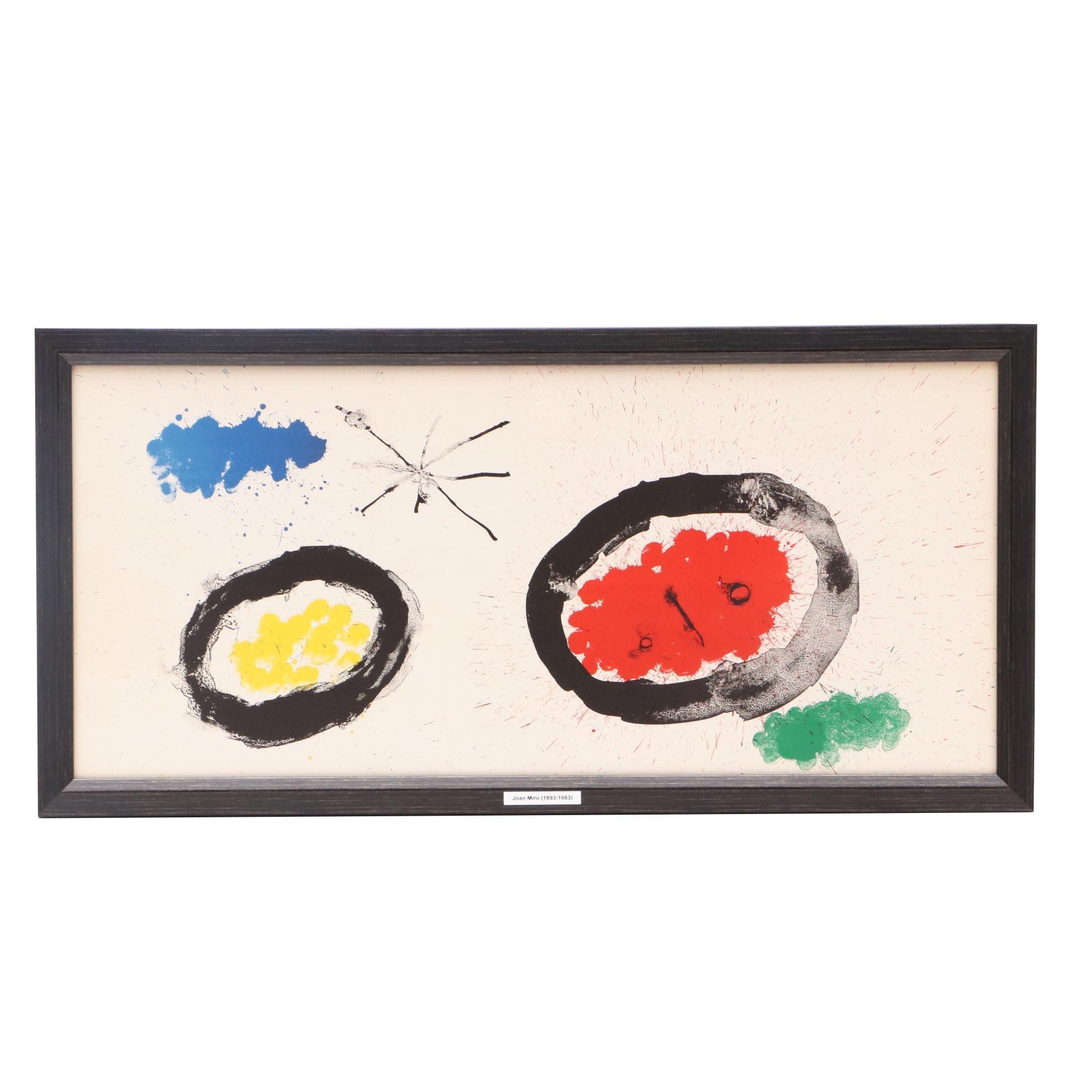 "Joan Miró Triple-Page Lithograph from ""Derriere le Miroir"""