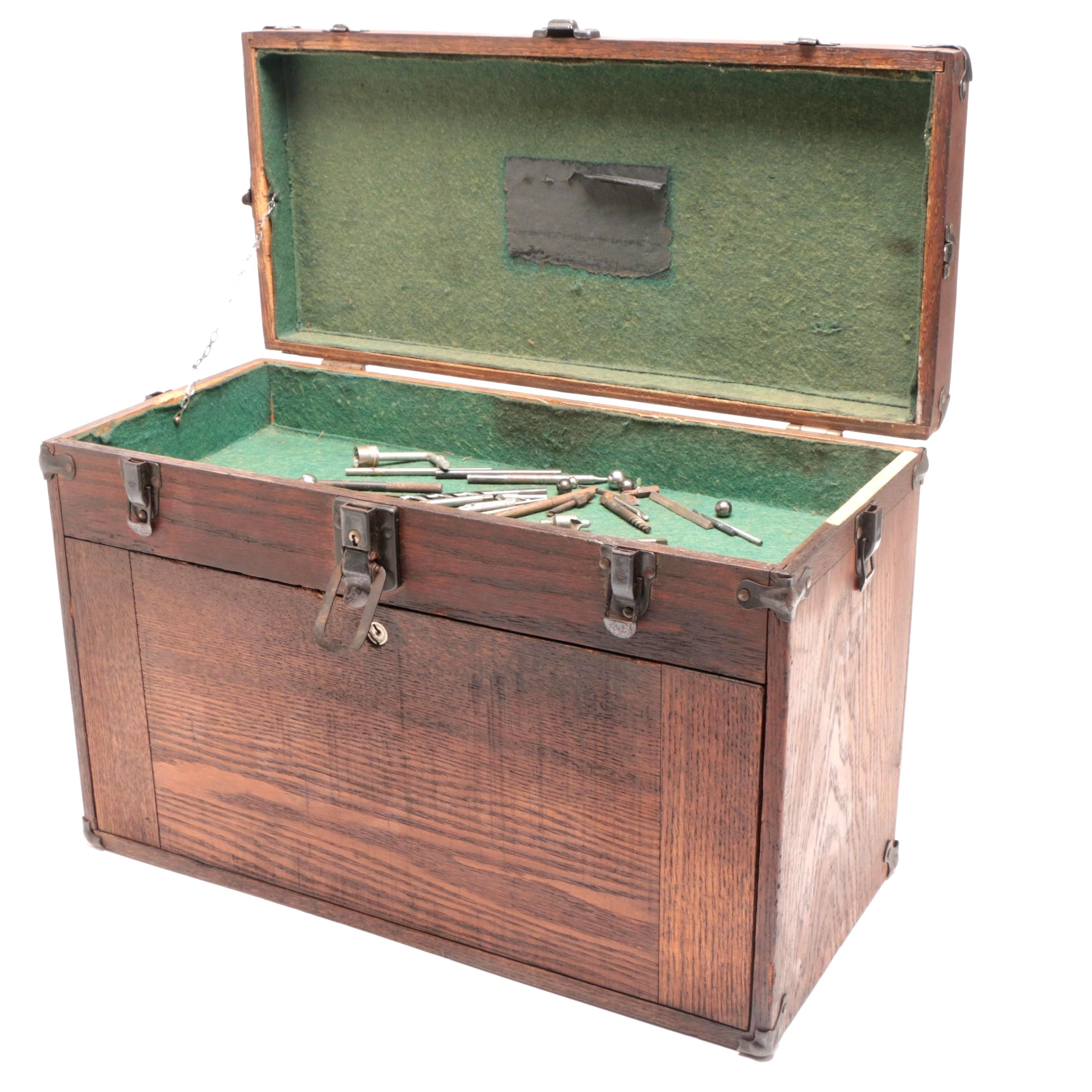 Machinist's Chest by George Scherr With Tools, Early 20th Century