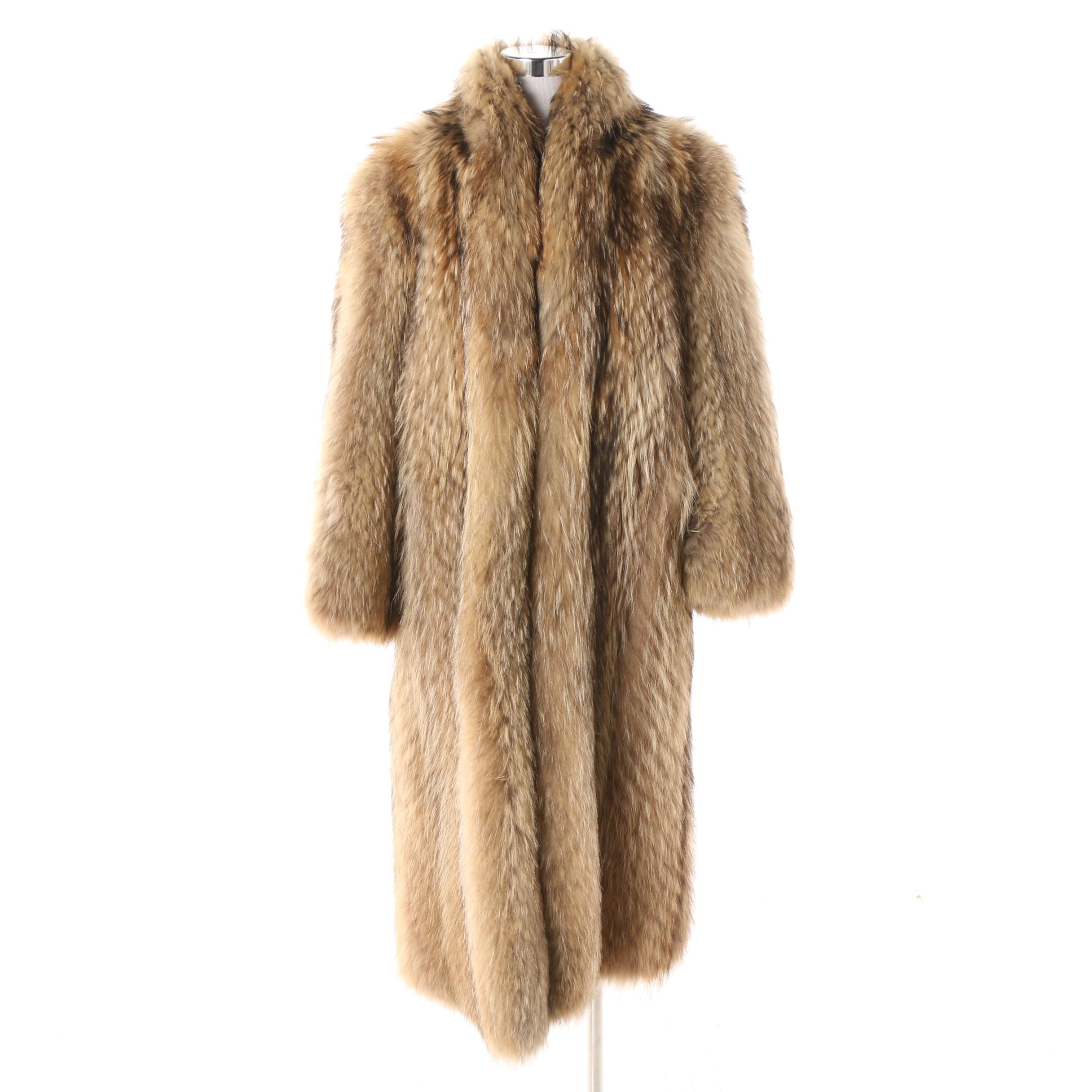 Women's Revillon Boutique Paris Tanuki Fur Coat