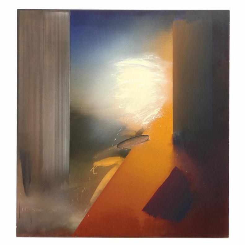 "Richard Saba 1979 Acrylic Painting ""Turkish Rondo"""