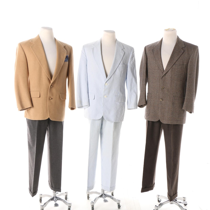 Brooks Brothers Seersucker Suit With Other Wool Suit Separates Ebth
