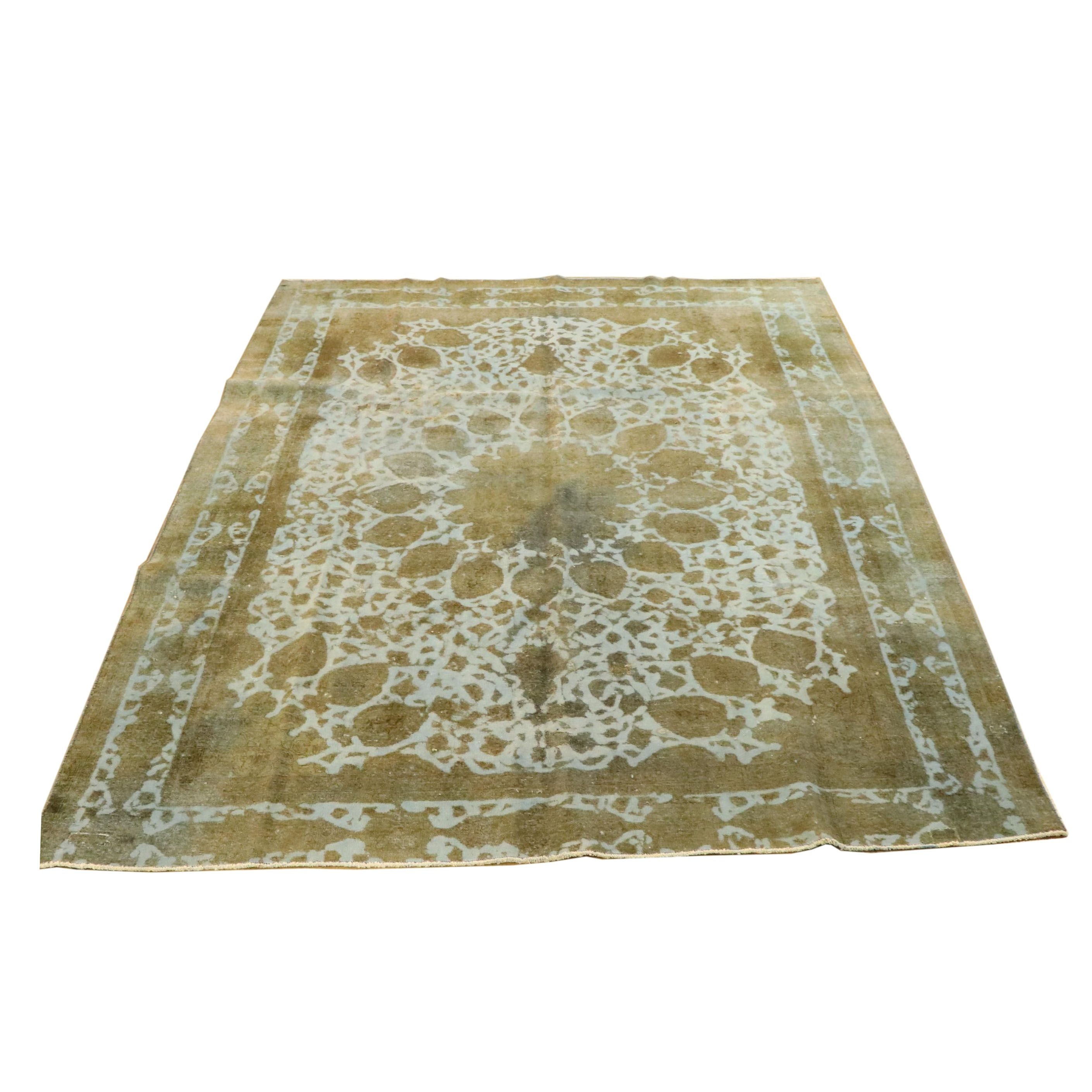 Power-Loomed Overdyed Persian-Style Wool Room Sized Rug