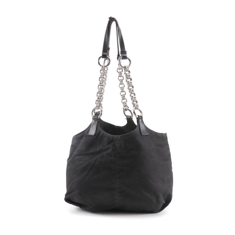 Prada Black Nylon Shoulder Bag   EBTH 4fda40fb8b537