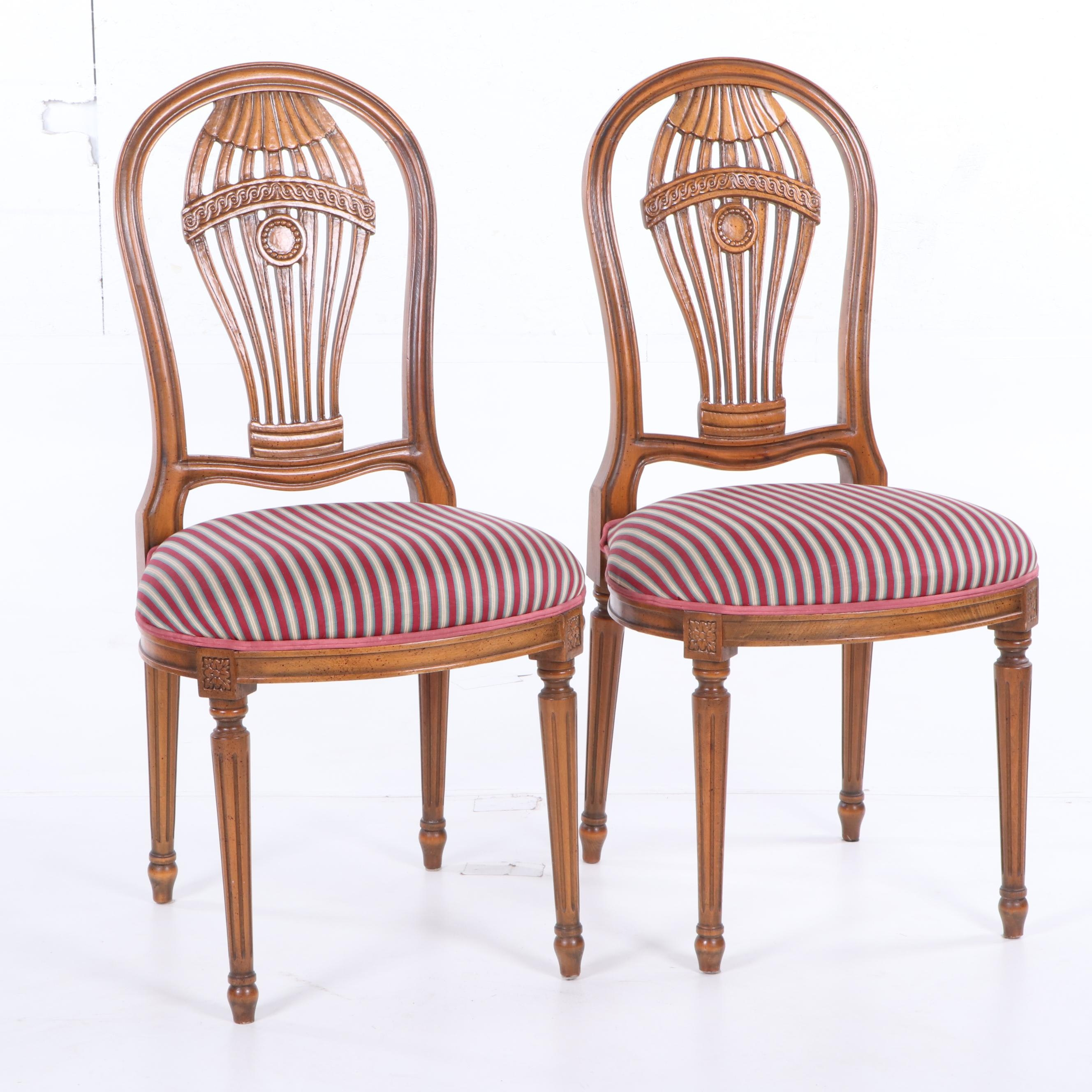 Louis XVI Style Upholstered Balloon Back Side Chairs by Buying & Design, 21st C.