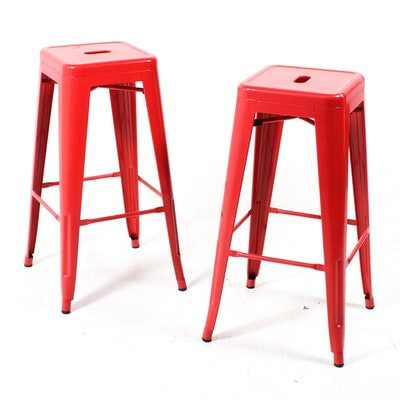 Brilliant Three Frontgate Manchester Swivel Bar Stools Ebth Pdpeps Interior Chair Design Pdpepsorg