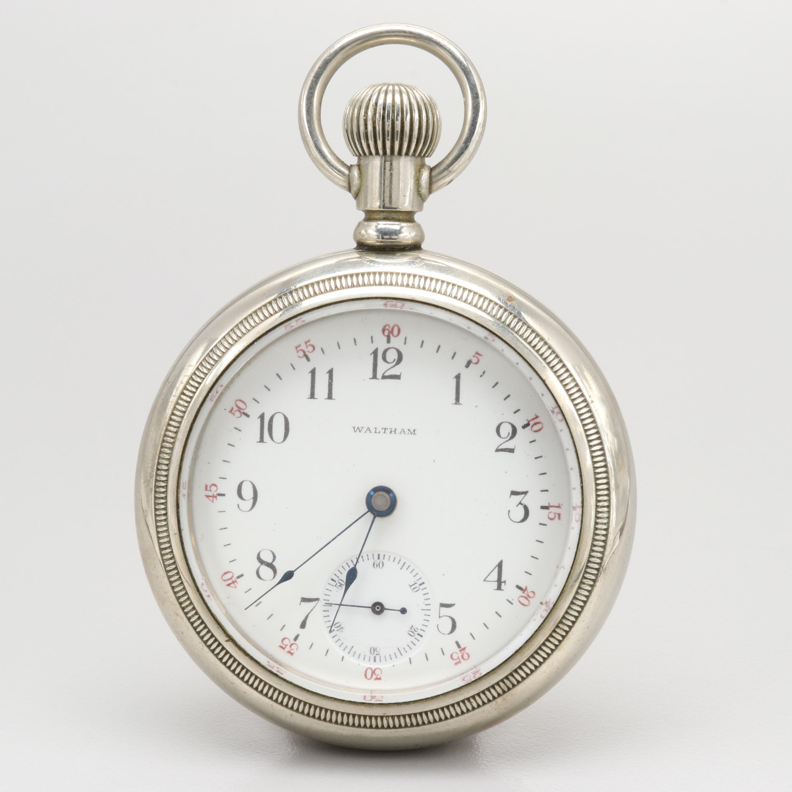 Waltham Nickel Open Face Pocket Watch, 1903
