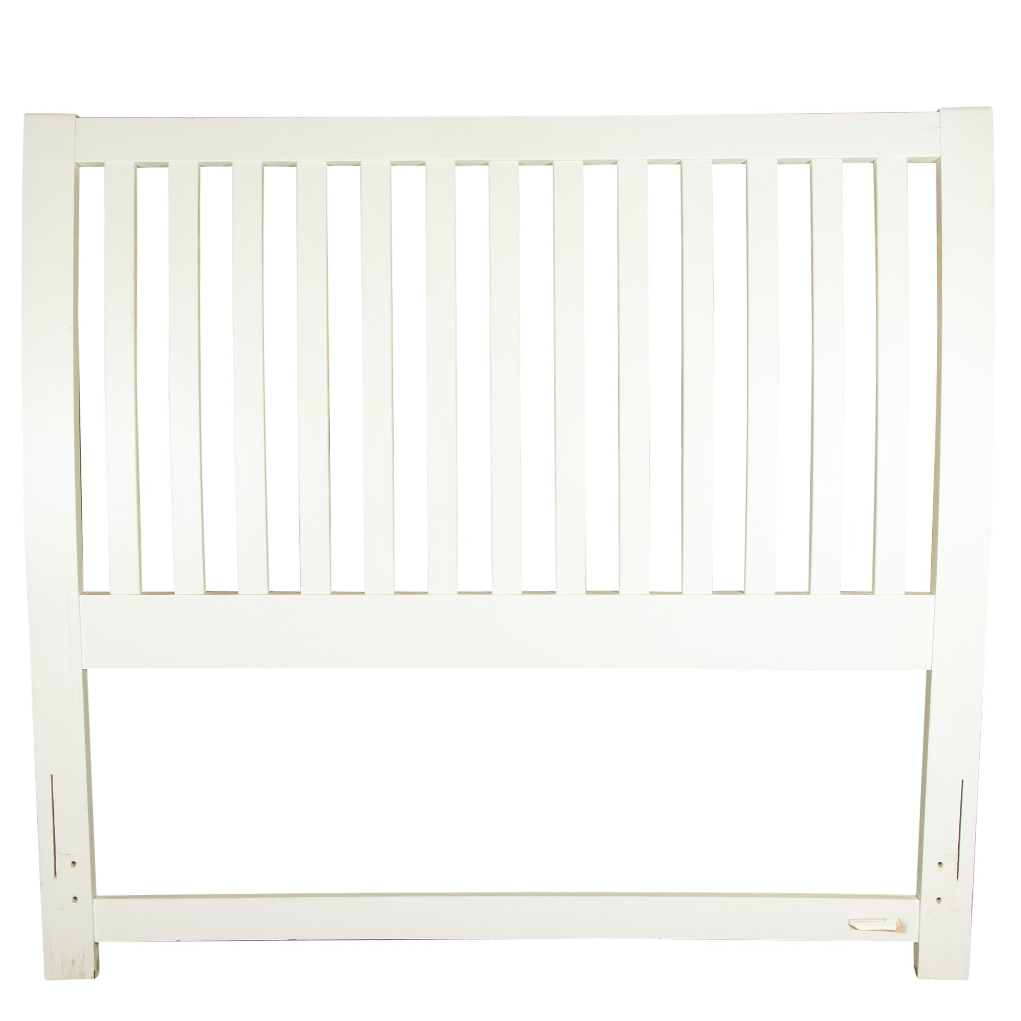 Painted Wooden Queen Size Headboard, 20th/21st Century