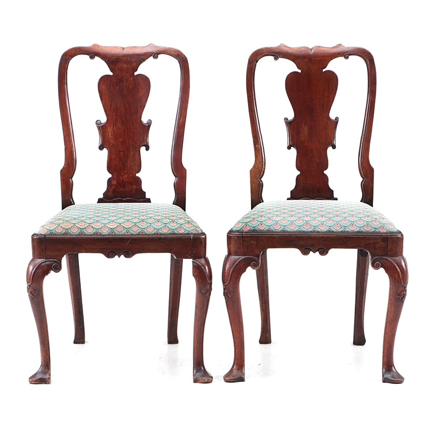 Pair of Queen Anne Mahogany Chairs, Last Quarter of the 18th Century