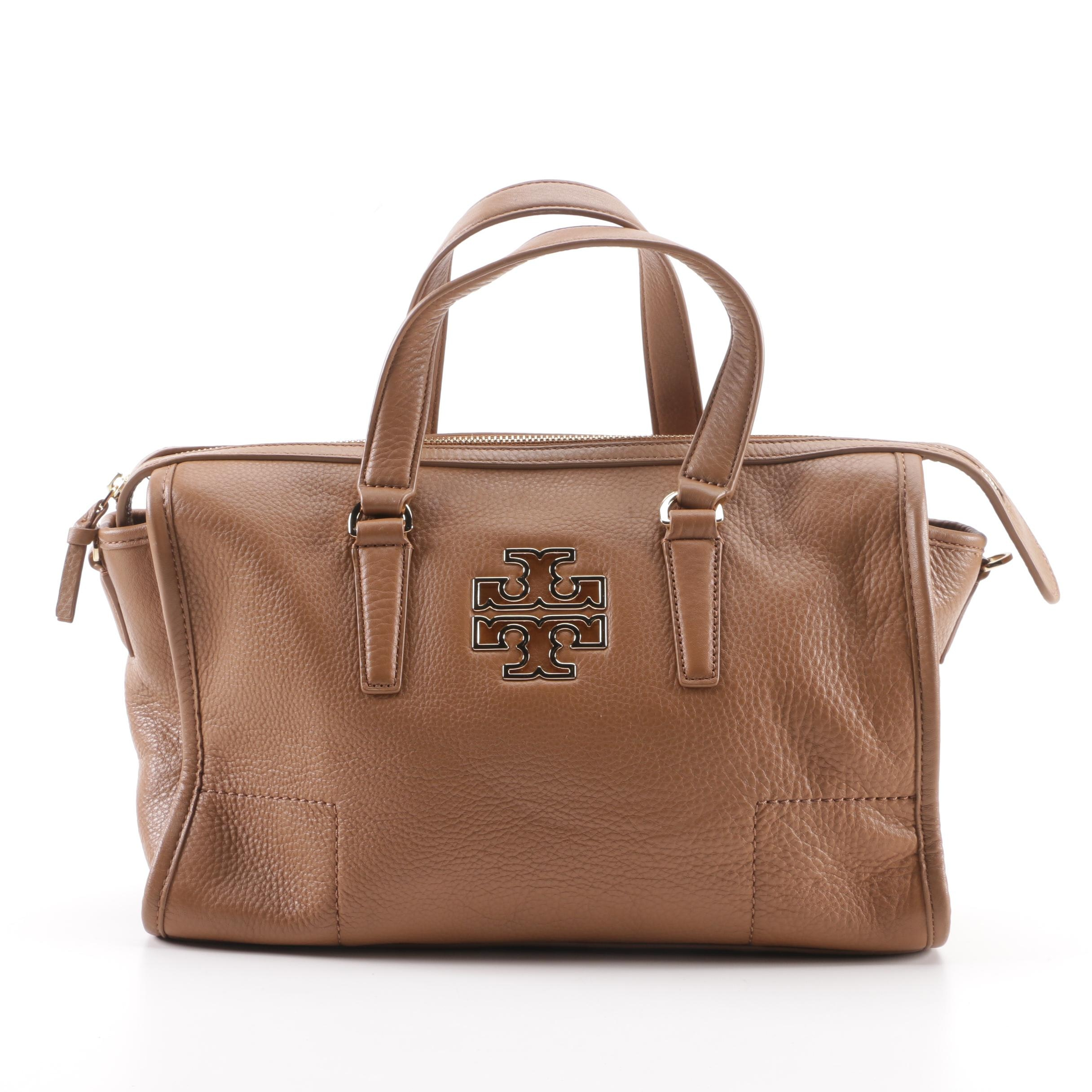 Tory Burch Light Brown Leather Satchel