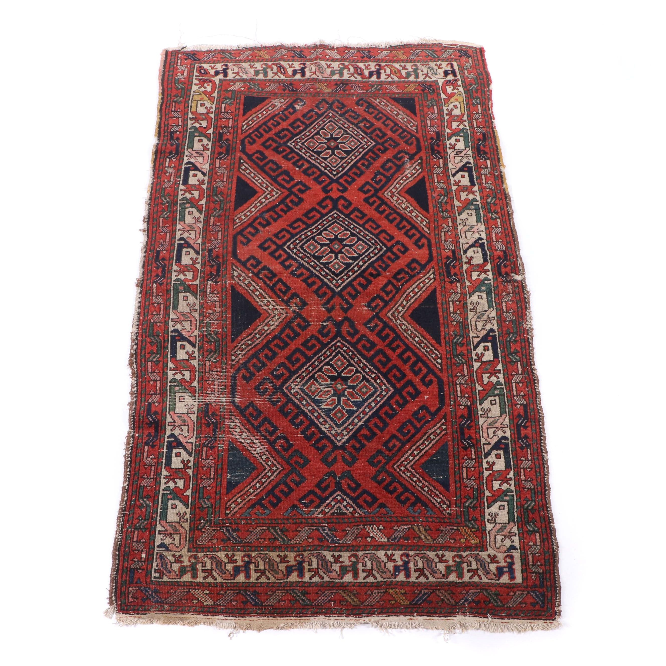 Hand-Knotted Kurdish Kolyai Wool Rug
