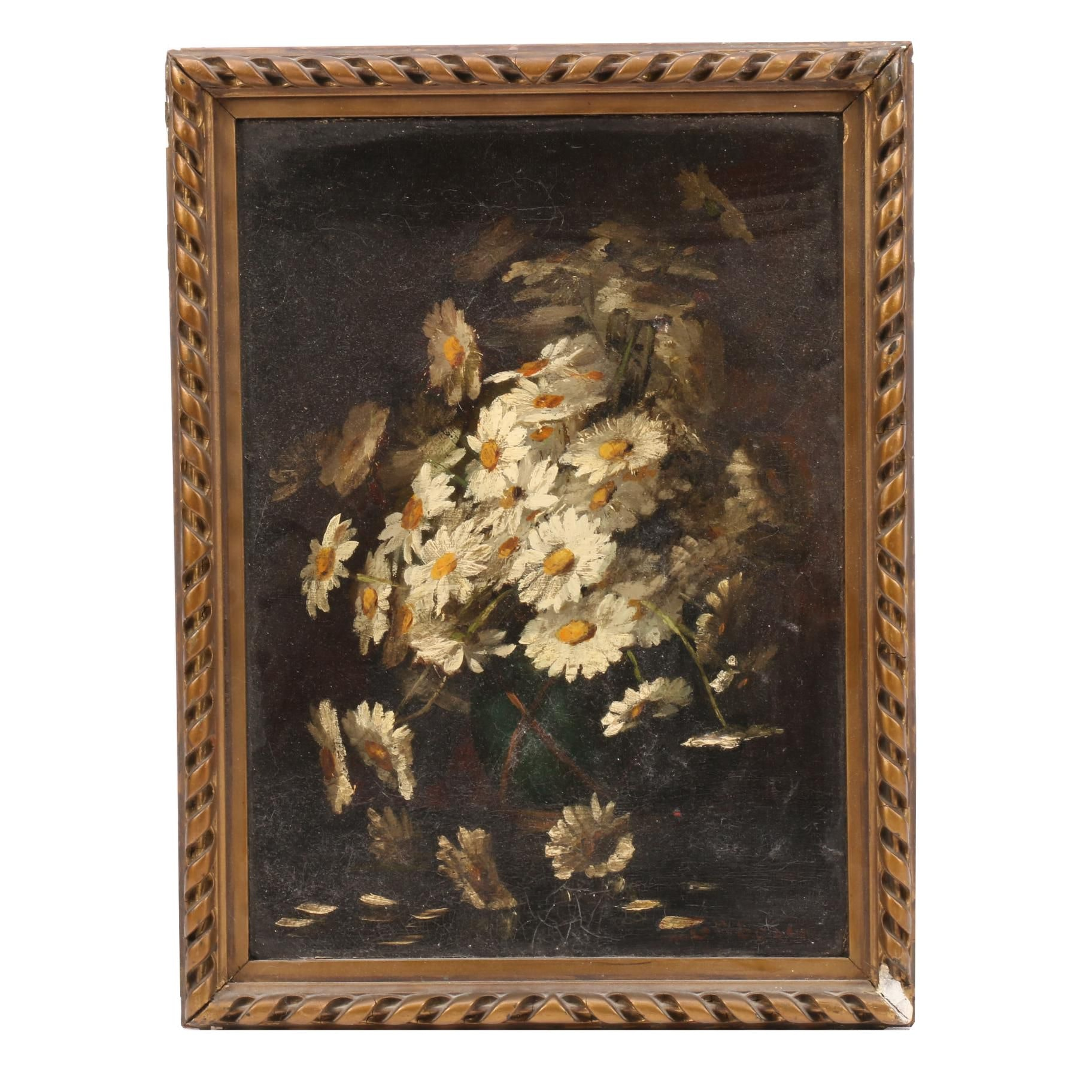 Late 19th Century Floral Still Life Oil Painting