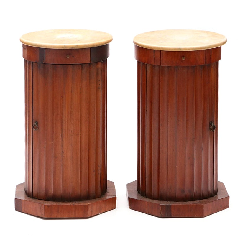 Pair of William IV Columnar Pedestal Stands