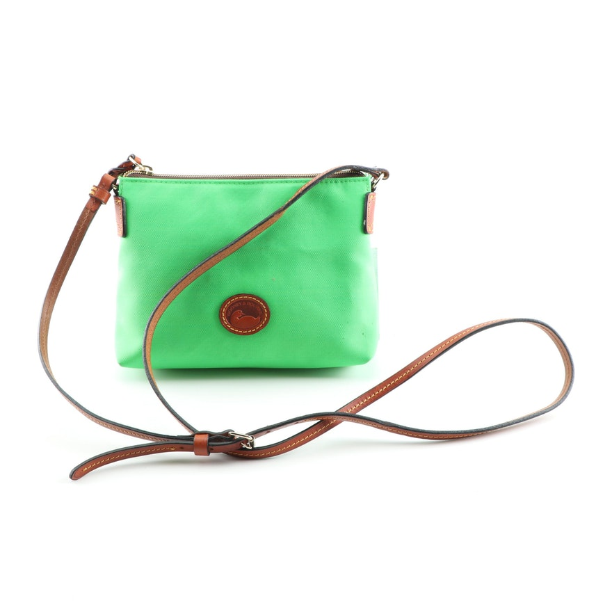 9d19ead6fb4e Dooney   Bourke Vibrant Green Nylon and Leather Crossbody Bag   EBTH