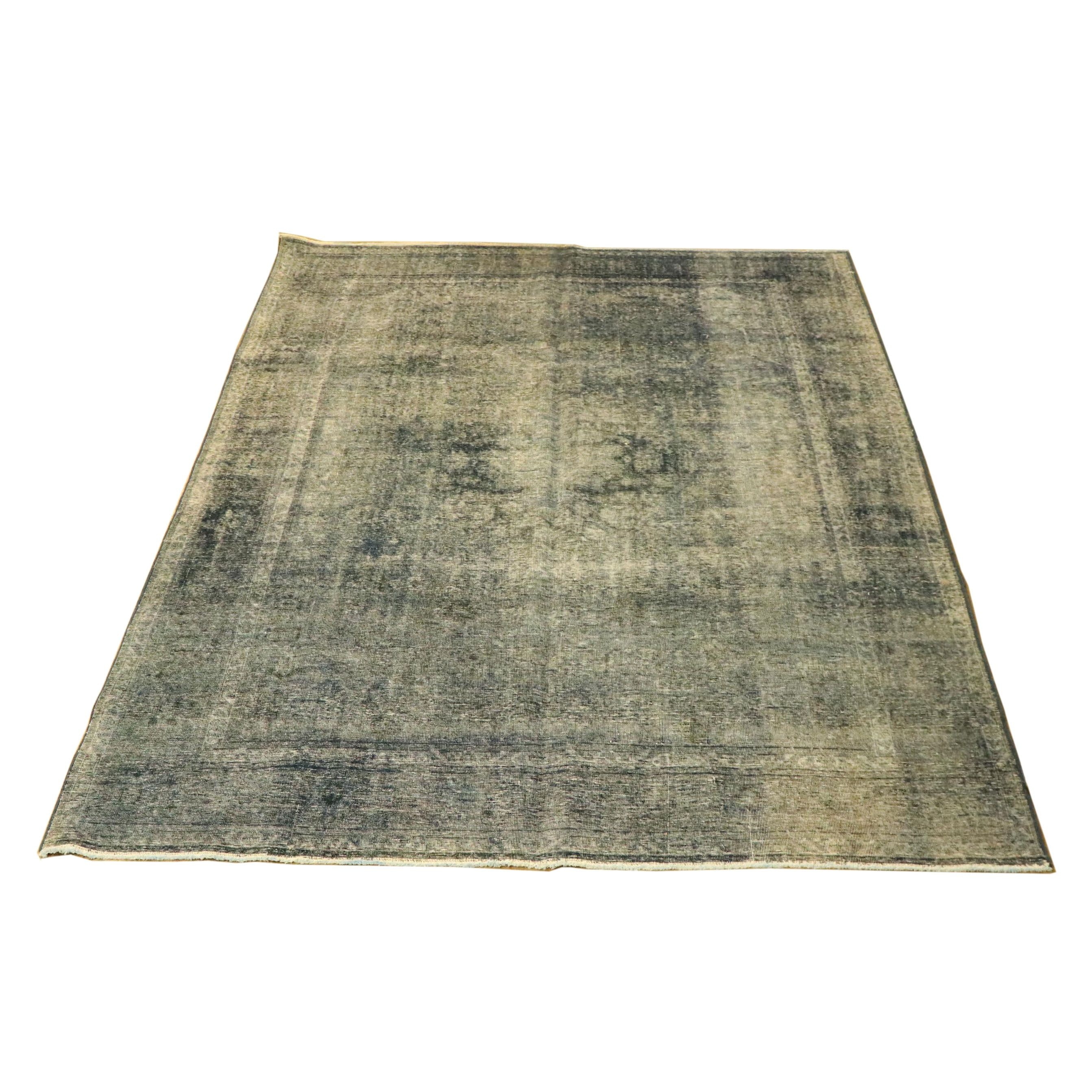 Power-Loomed Overdyed Persian-Style Wool Rug