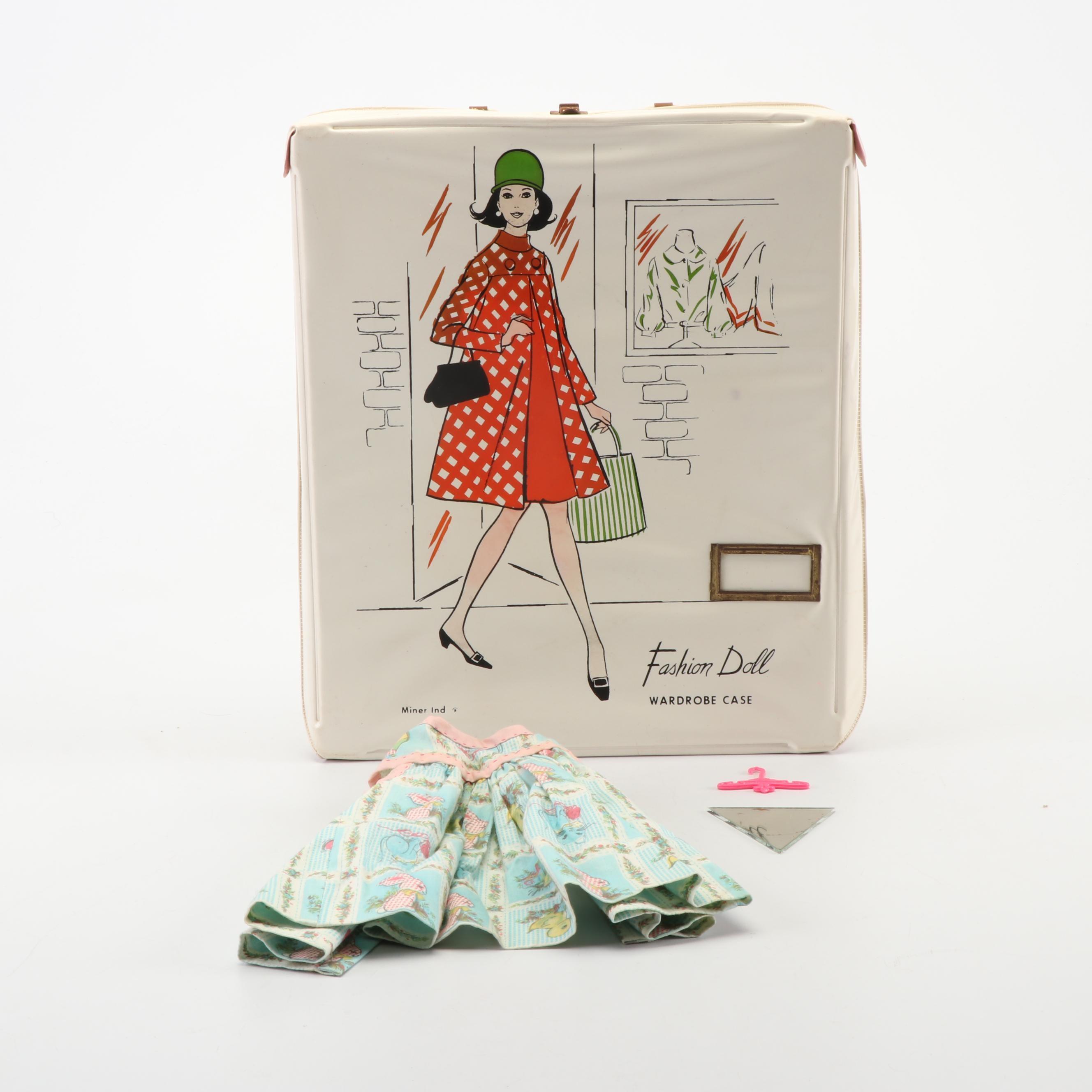 "Miner Industries ""Fashion Doll"" Wardrobe Case, Mid-Century"