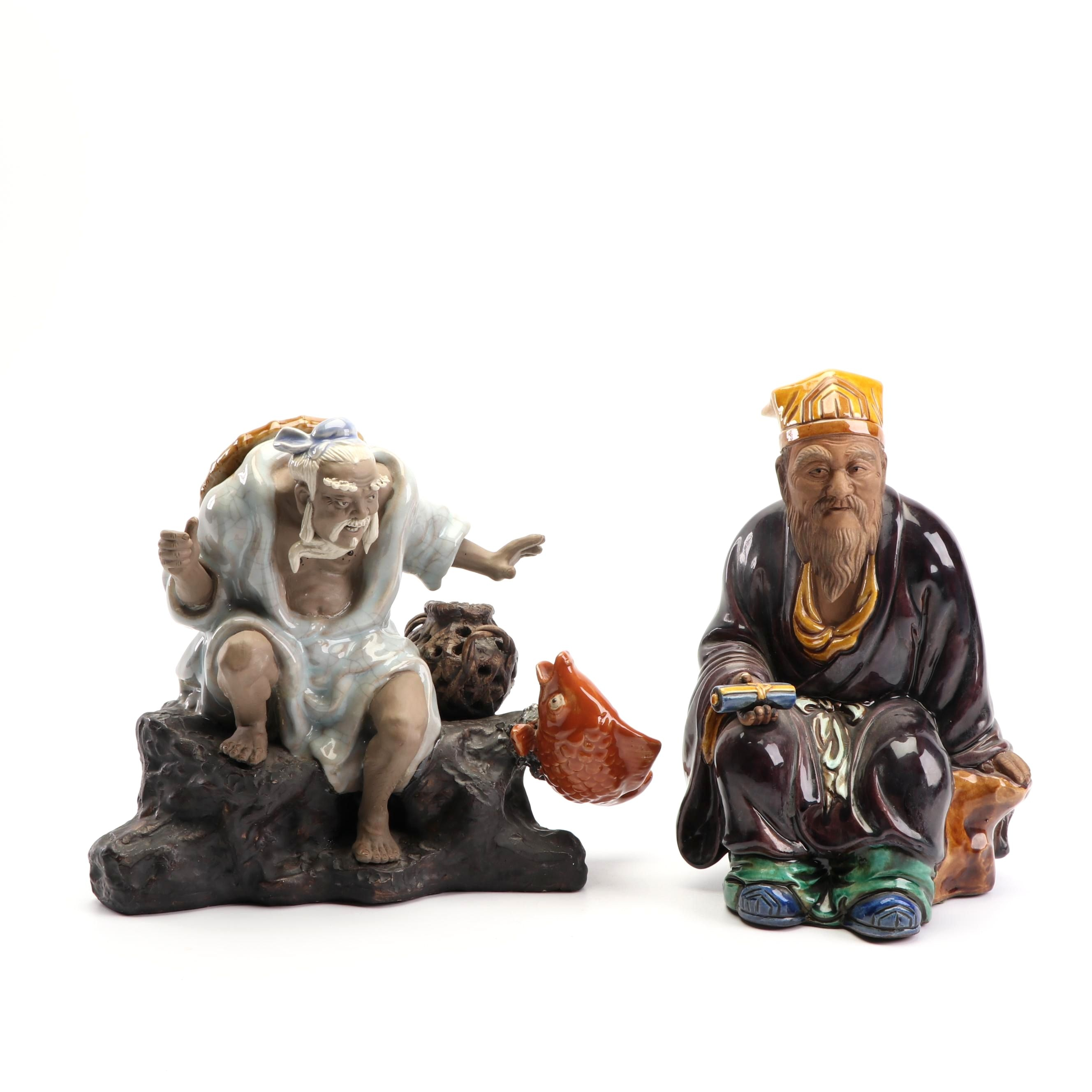 East Asian Earthenware Figurines