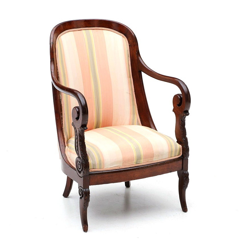 Louis Philippe Mahogany Armchair