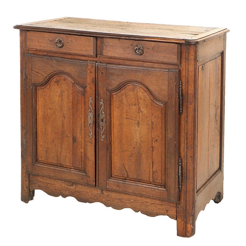 French Provincial Oak Buffet, 19th Century
