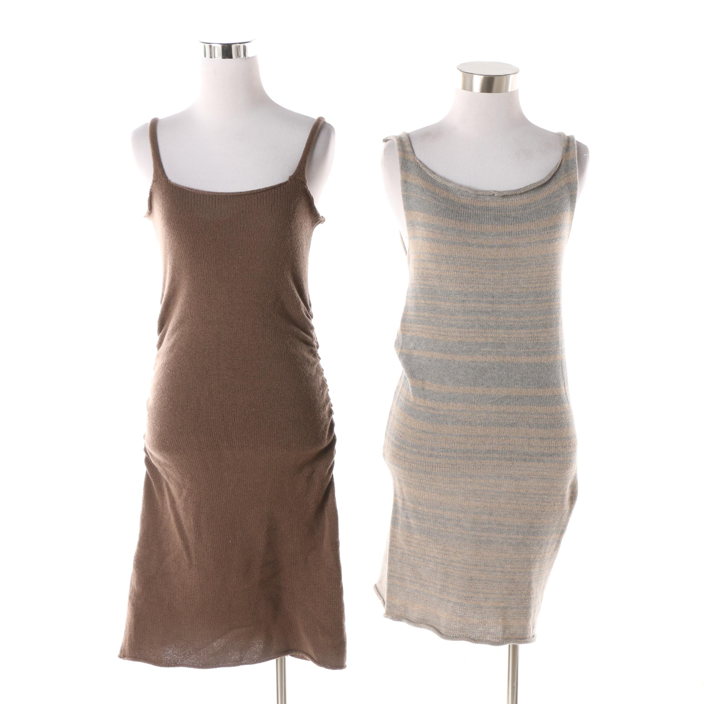 Women's Souchi Merino Wool Blend and Cashmere Knit Sleeveless Mini Dresses