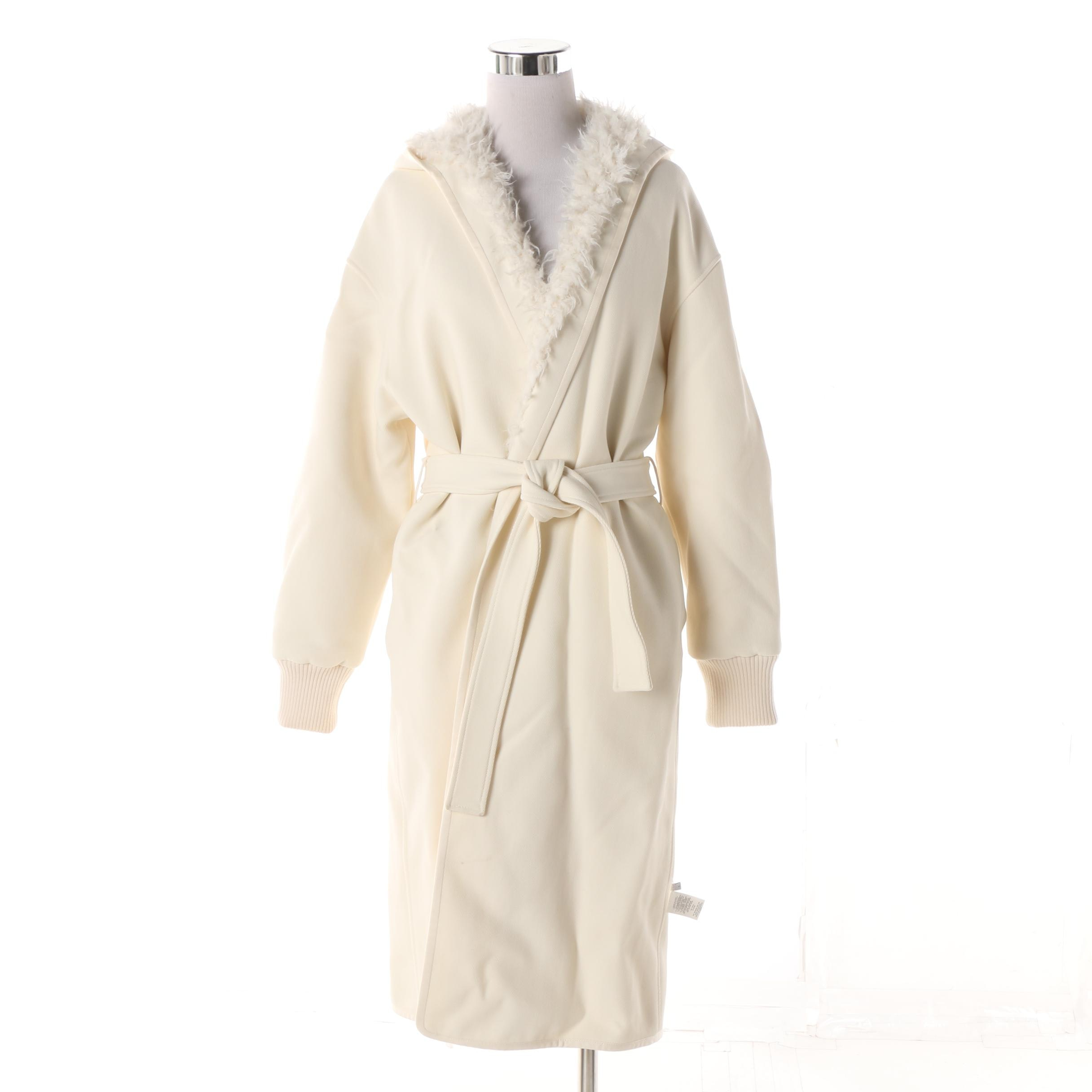 Women's Helmut Lang Off-White Cotton and Faux Fur Reversible Coat from Barneys