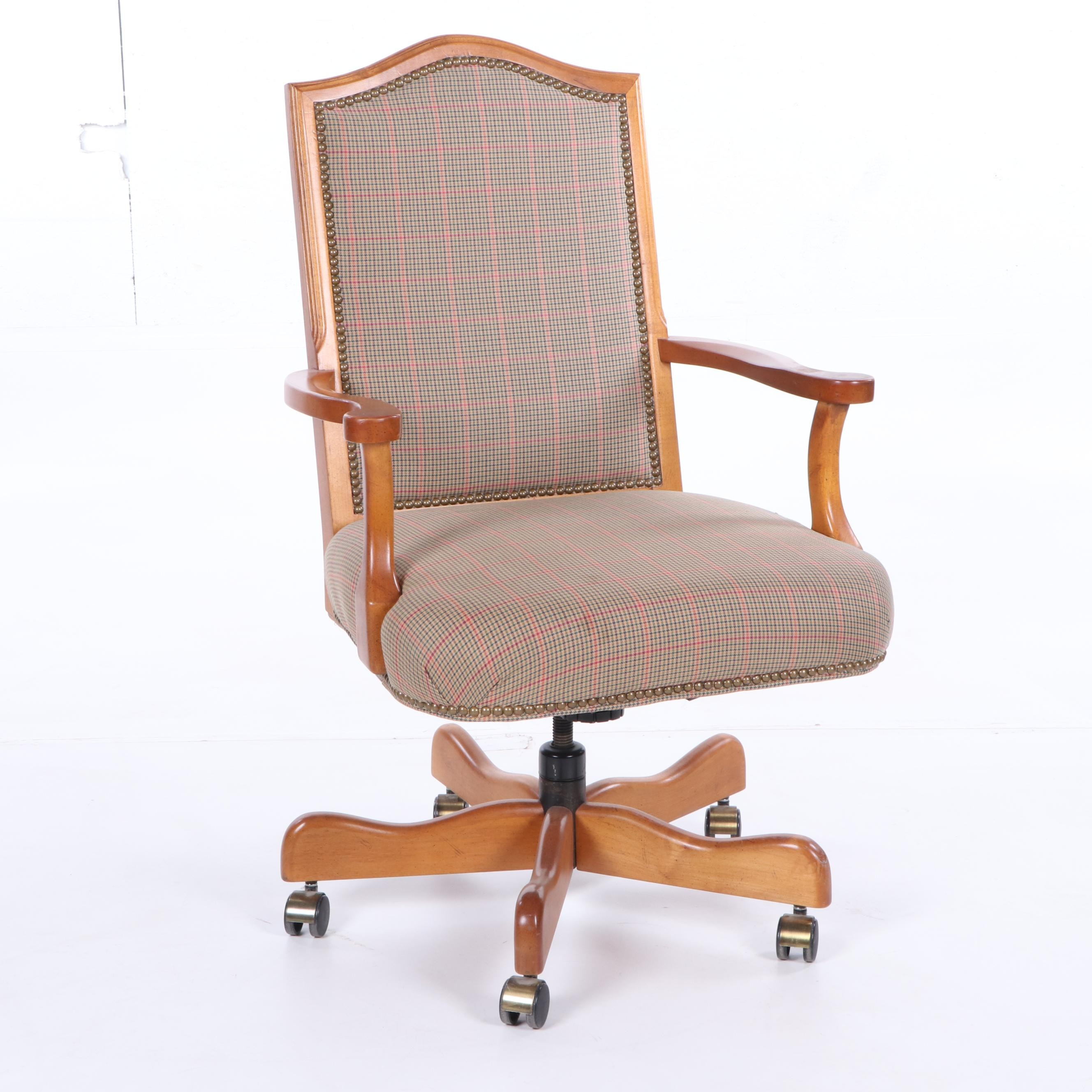 Upholstered Office Chair on Casters by Sam Moore Furniture for La-Z-Boy, 21st C.