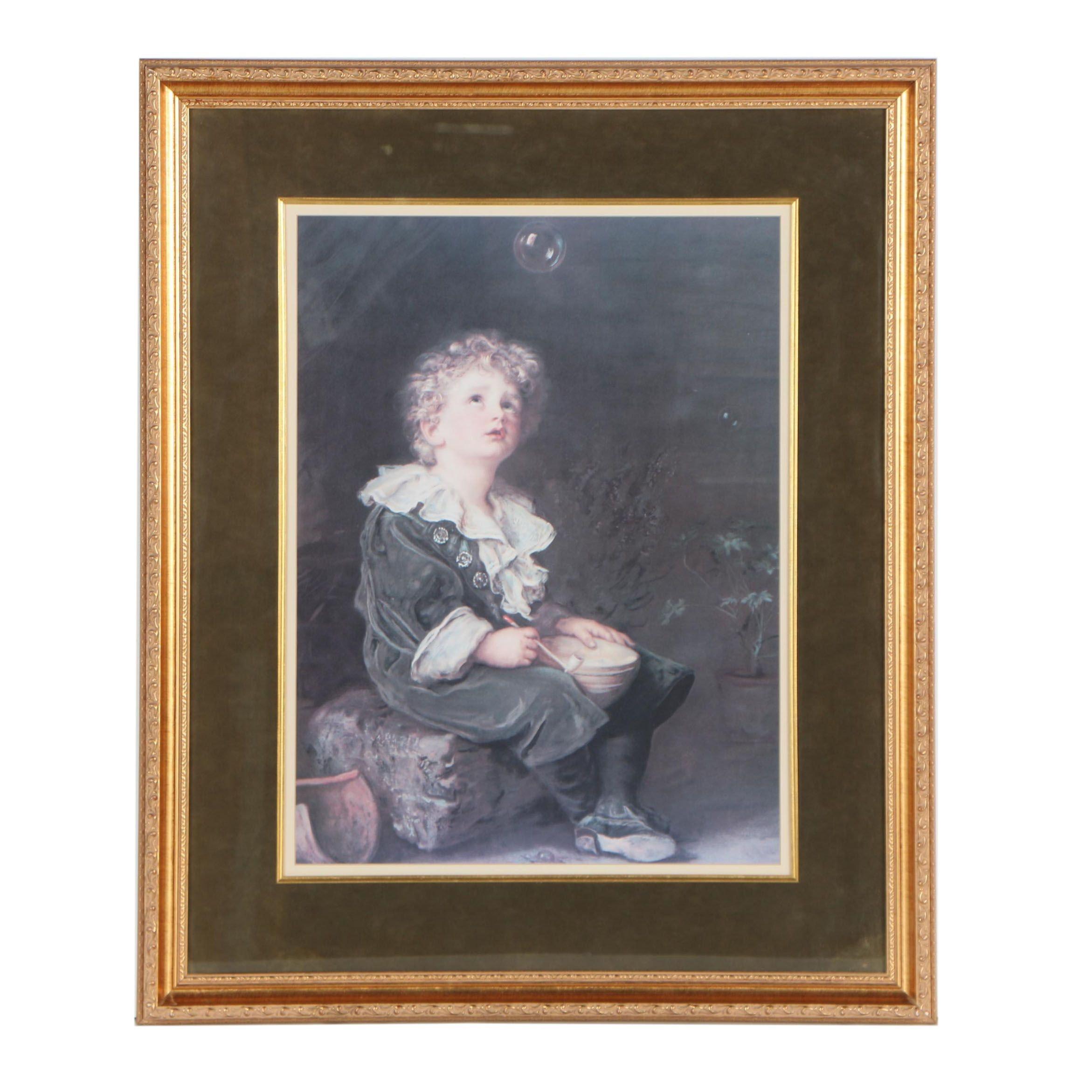 """Offset Lithograph after Sir John Everett Millais """"Bubbles"""""""