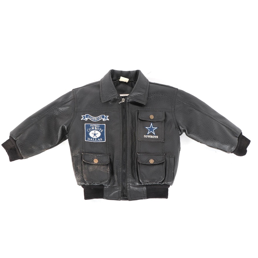 new arrival 04e13 9f43c Children's Vintage Mighty Mac Sports Dallas Cowboys Leather Jacket