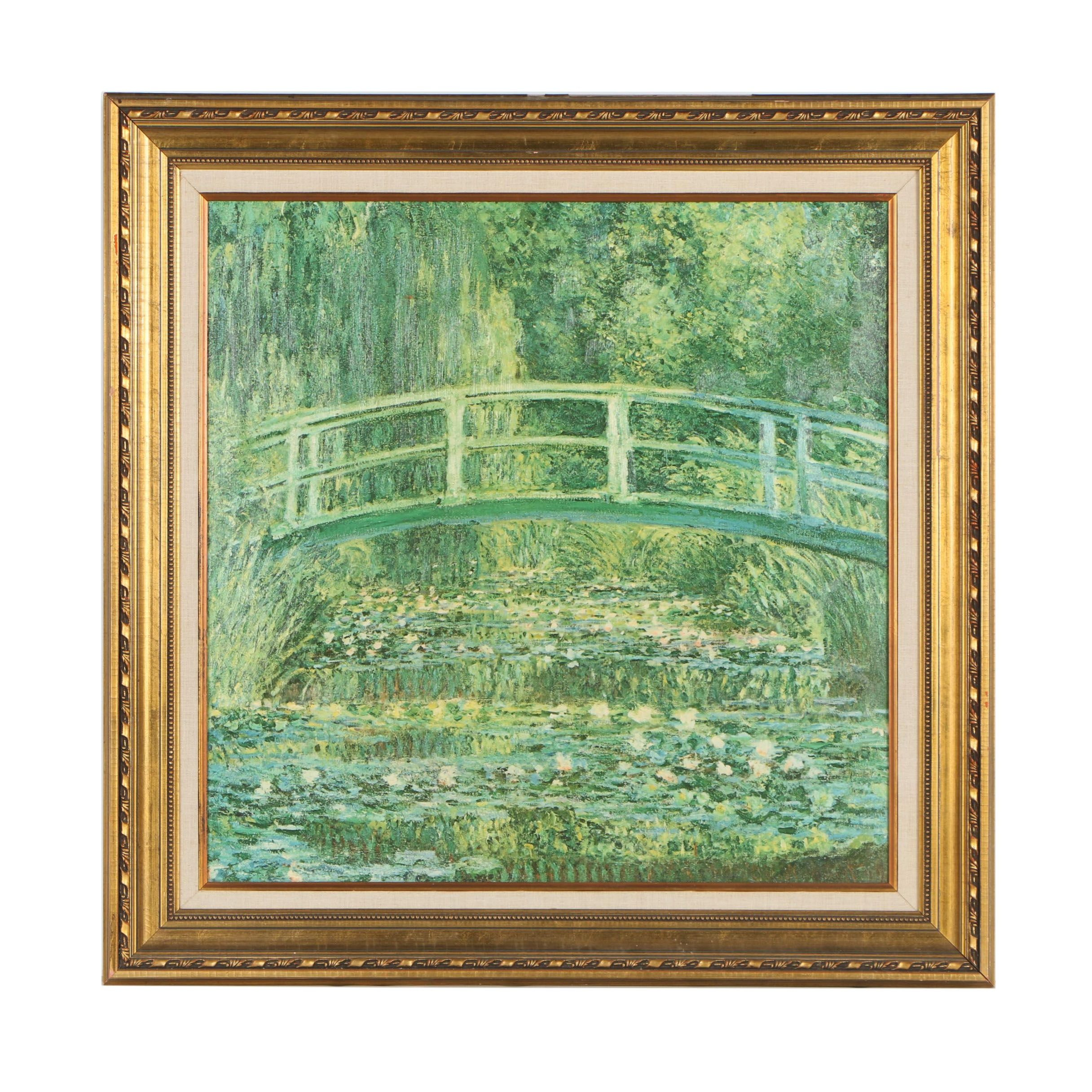 """Offset Lithograph after Claude Monet """"The Water Lily Pond"""""""