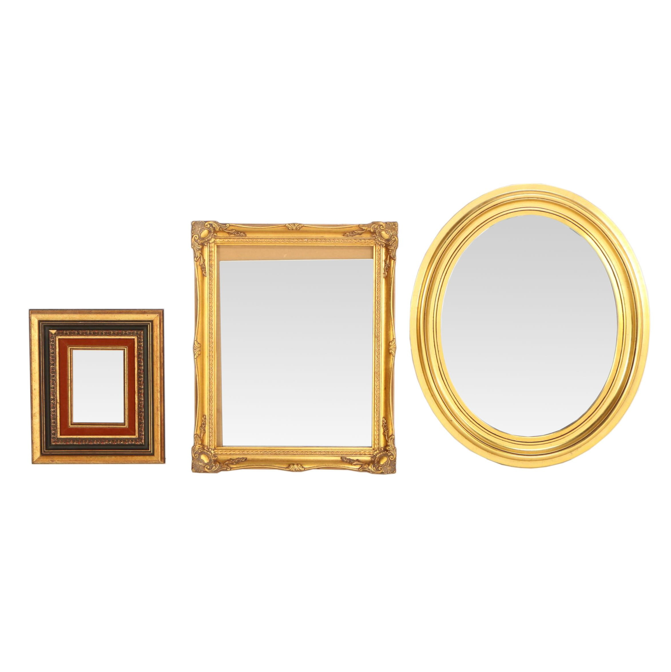 Tell City Chair Company Giltwood Oval Mirror with Other Giltwood Mirrors