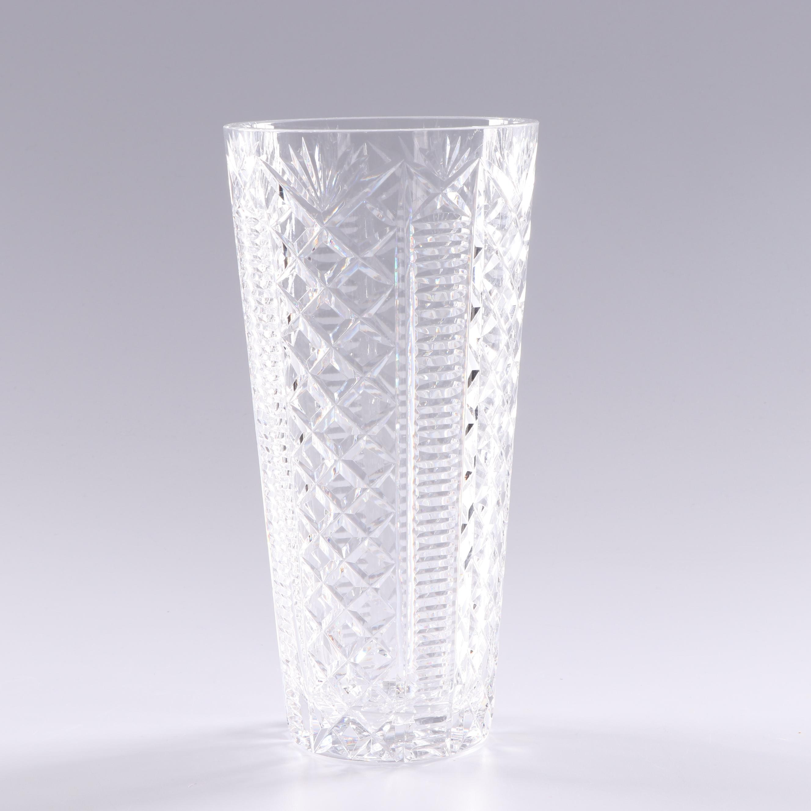 Waterford Crystal Large Tapered Bouquet Vase