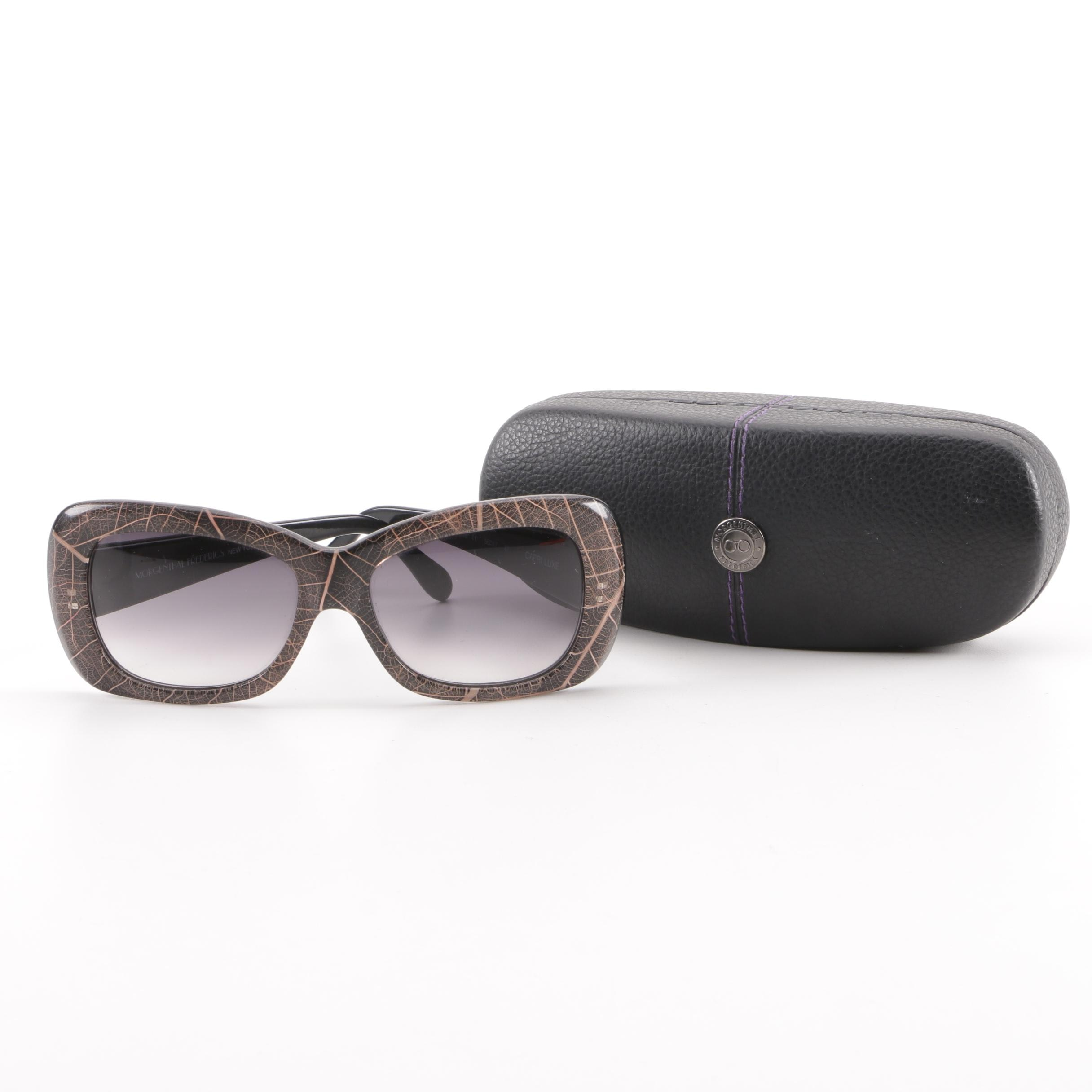 Morgenthal Frederics Capri Luxe Sunglasses with Case, Handmade in France