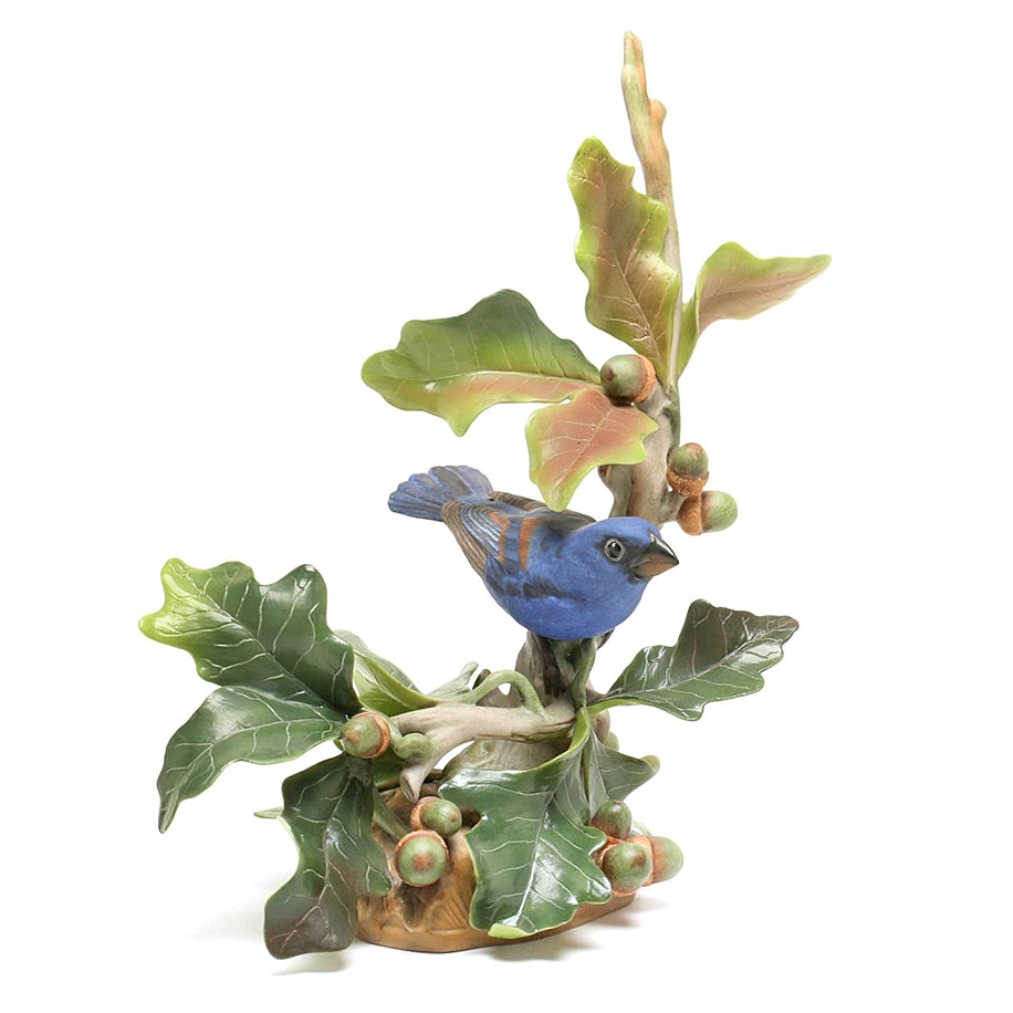"""Boehm Limited Edition """"Blue Grosbeak"""" Porcelain Sculpture"""