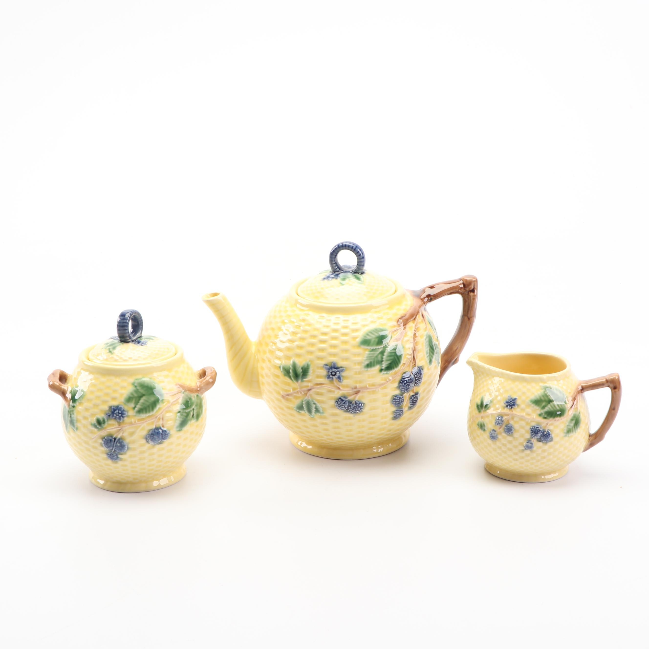 "Tiffany & Co. ""Blackberries"" Teapot, Creamer, and Sugar Bowl"