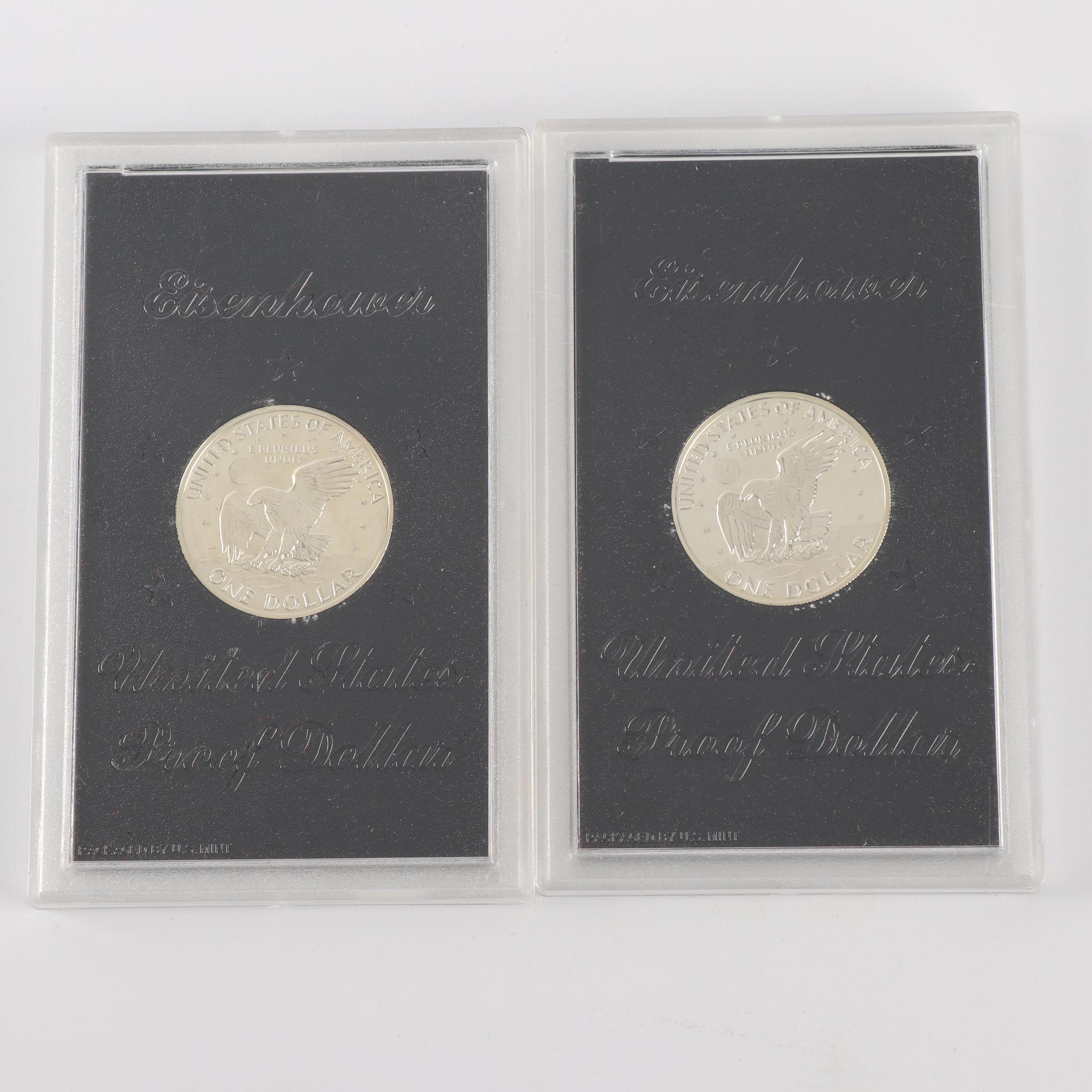 Pair of 1971 Eisenhower Silver Proof Dollars