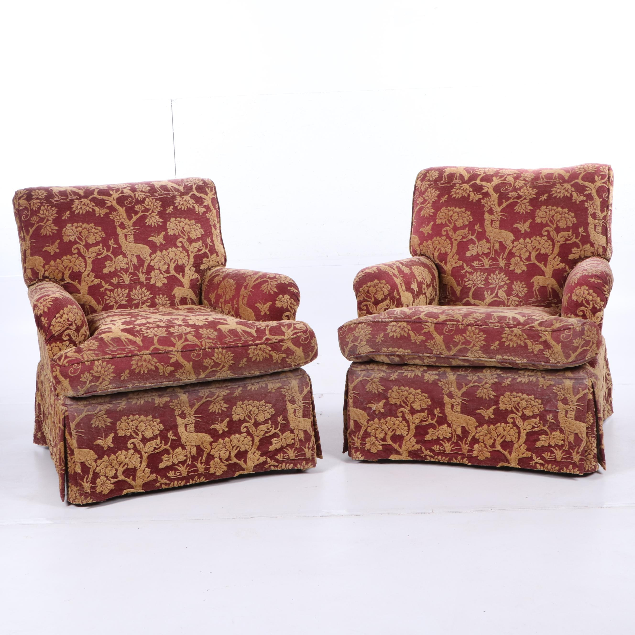 Upholstered Armchairs, Late 20th Century