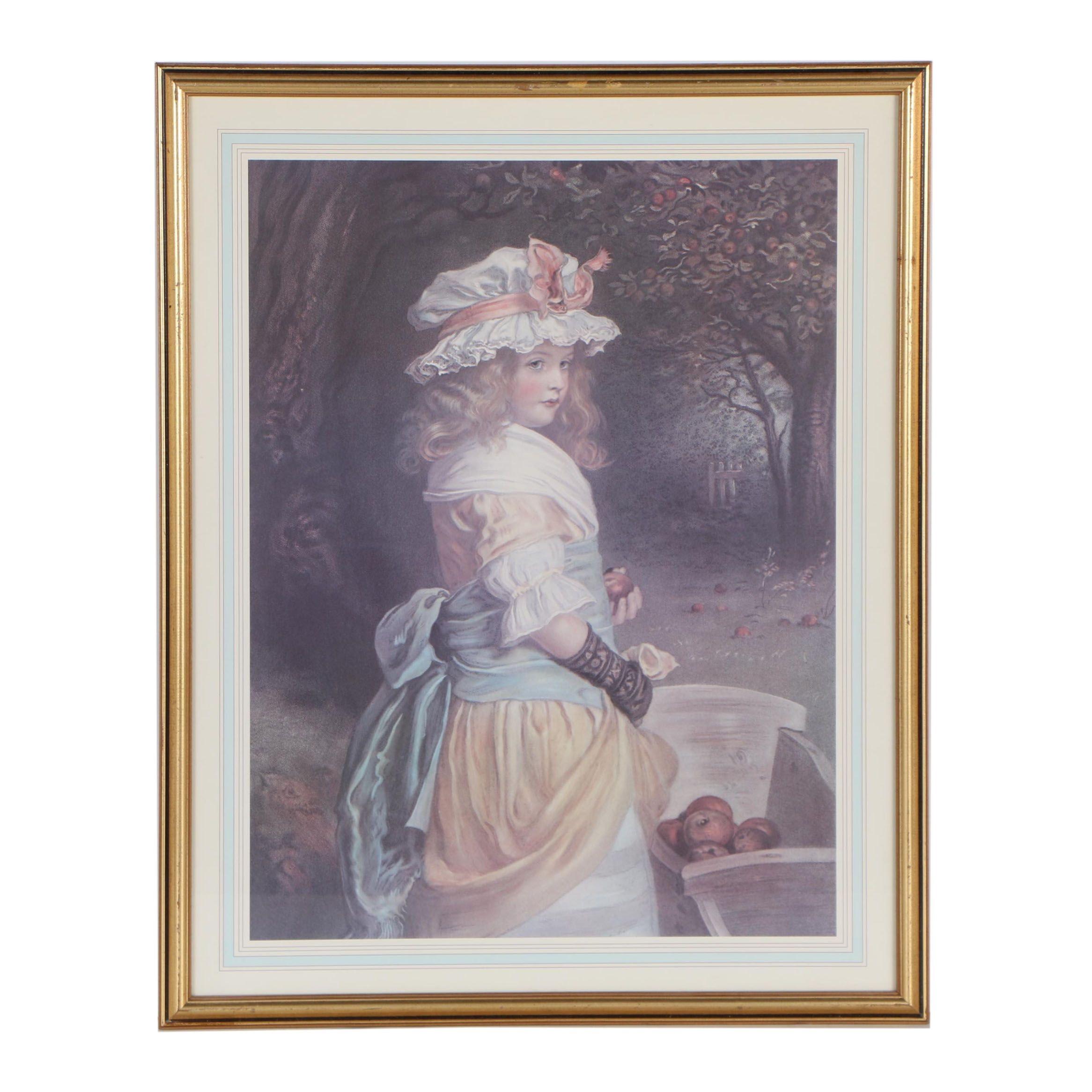 """Offset Lithograph after Sir John Everett Millais """"Pomona"""""""