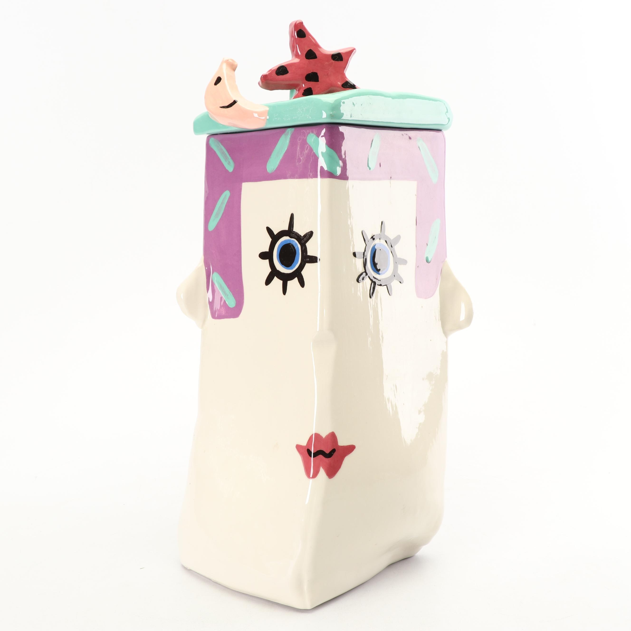 Jerilynn Babroff Figural Ceramic Canister