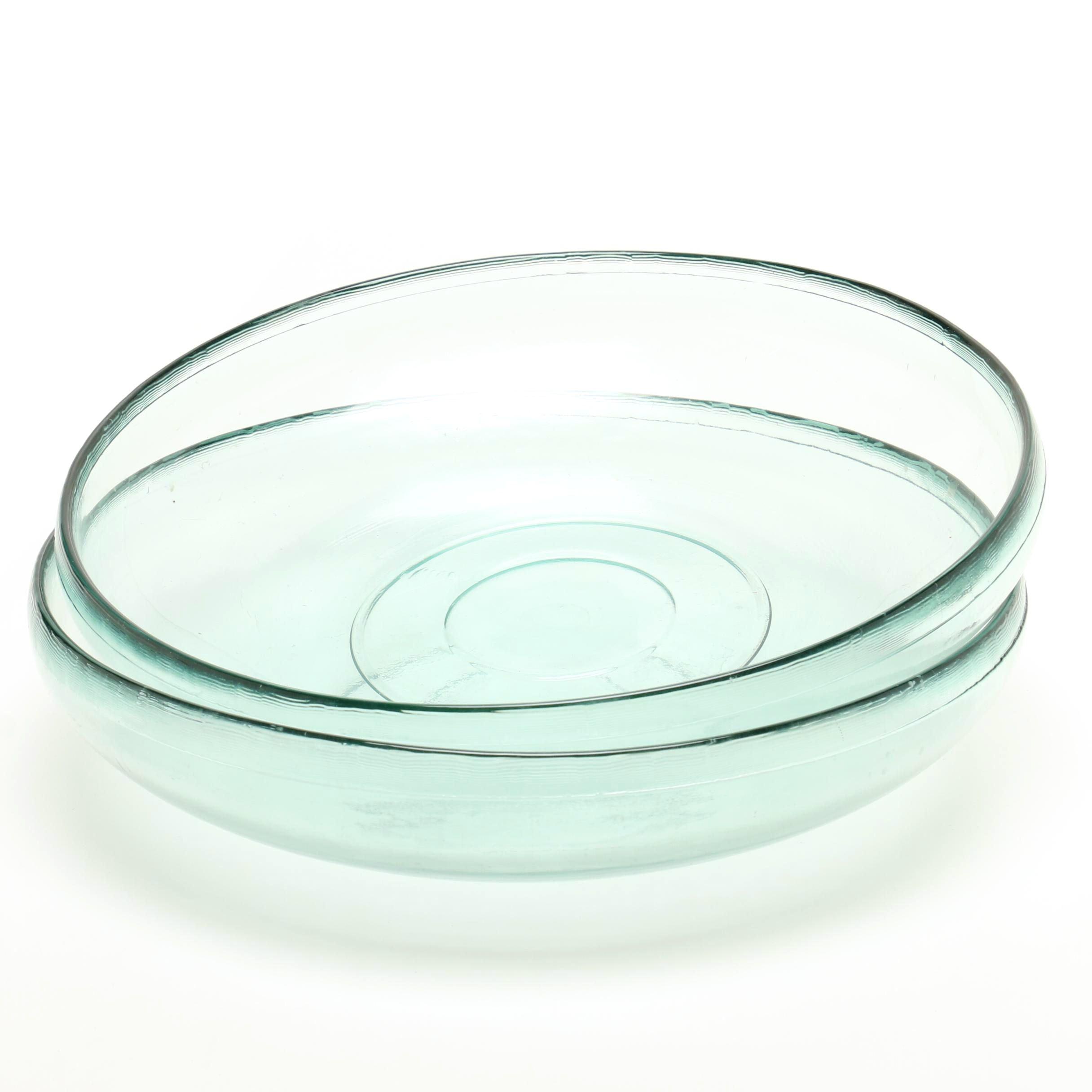 Wide Glass Serving Dish Set