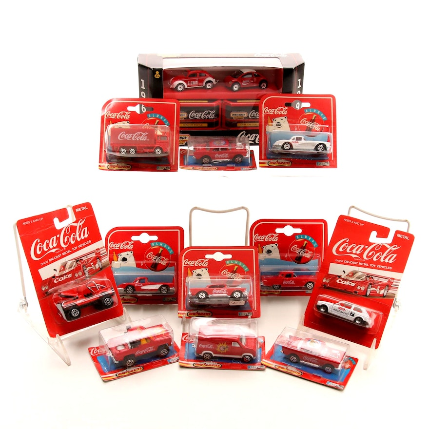 Coca Cola Die Cast Collector Cars Including Majorette Hartoy Inc
