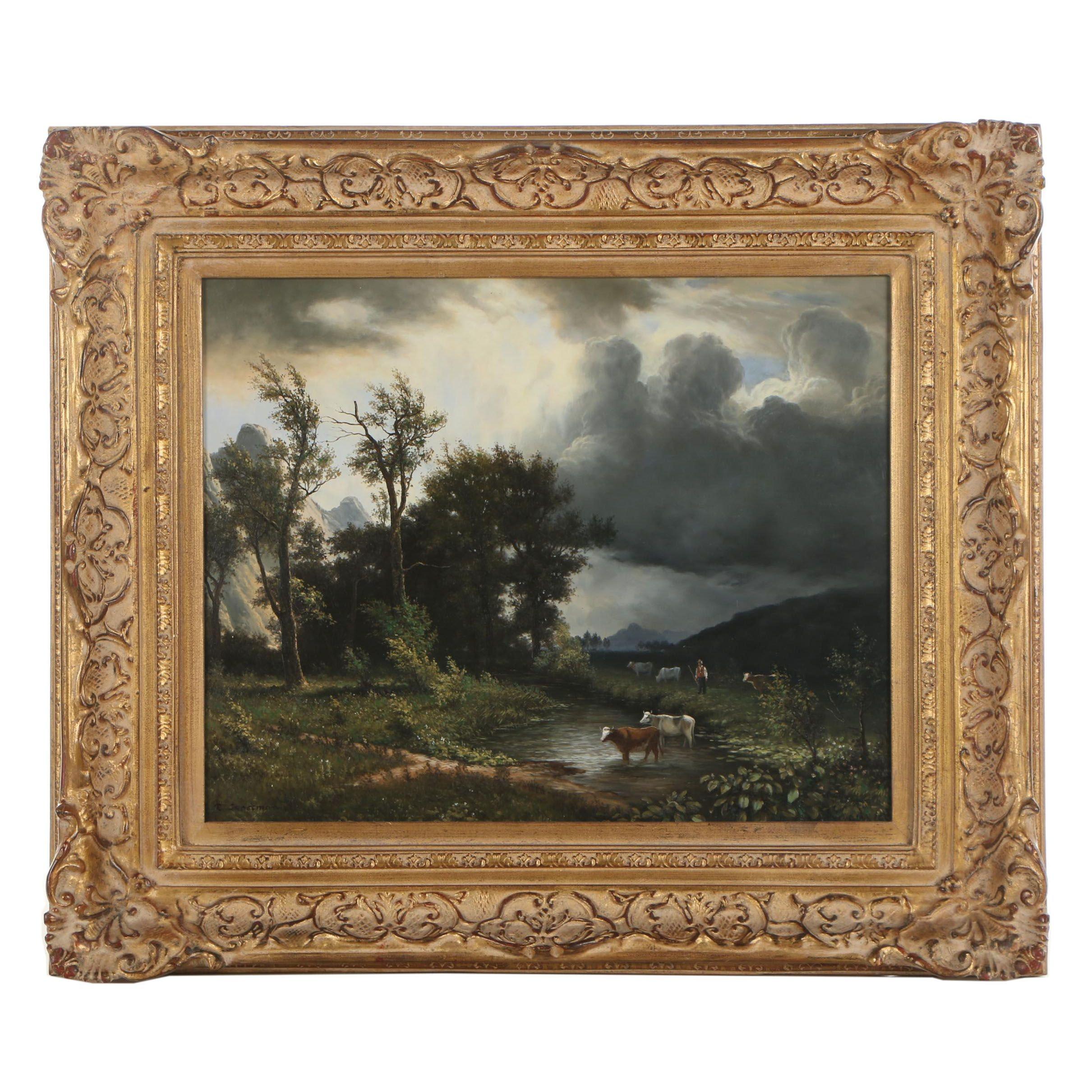 R. Grossman Landscape Oil Painting