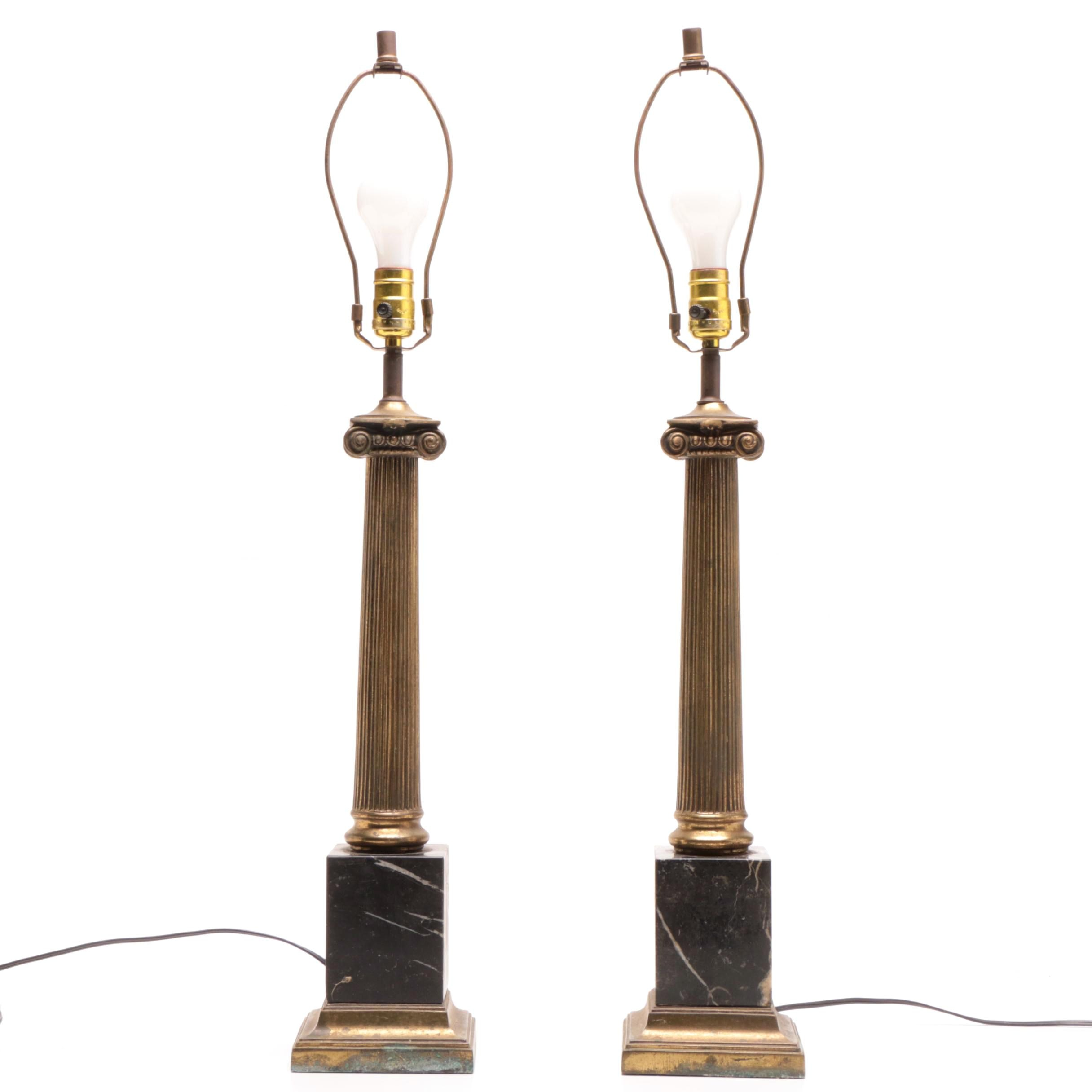 Neoclassical Style Marble Base Table Lamps