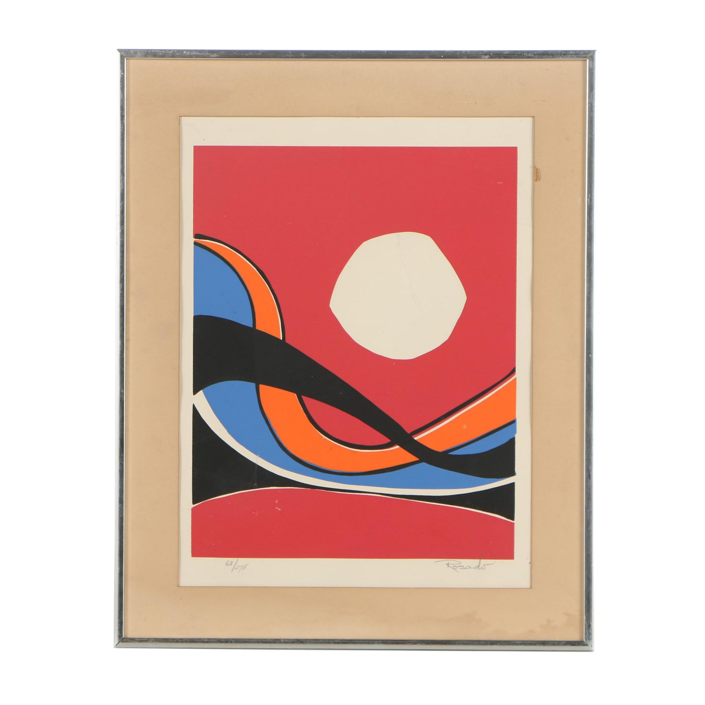 Julio Rosado del Valle Abstract Serigraph
