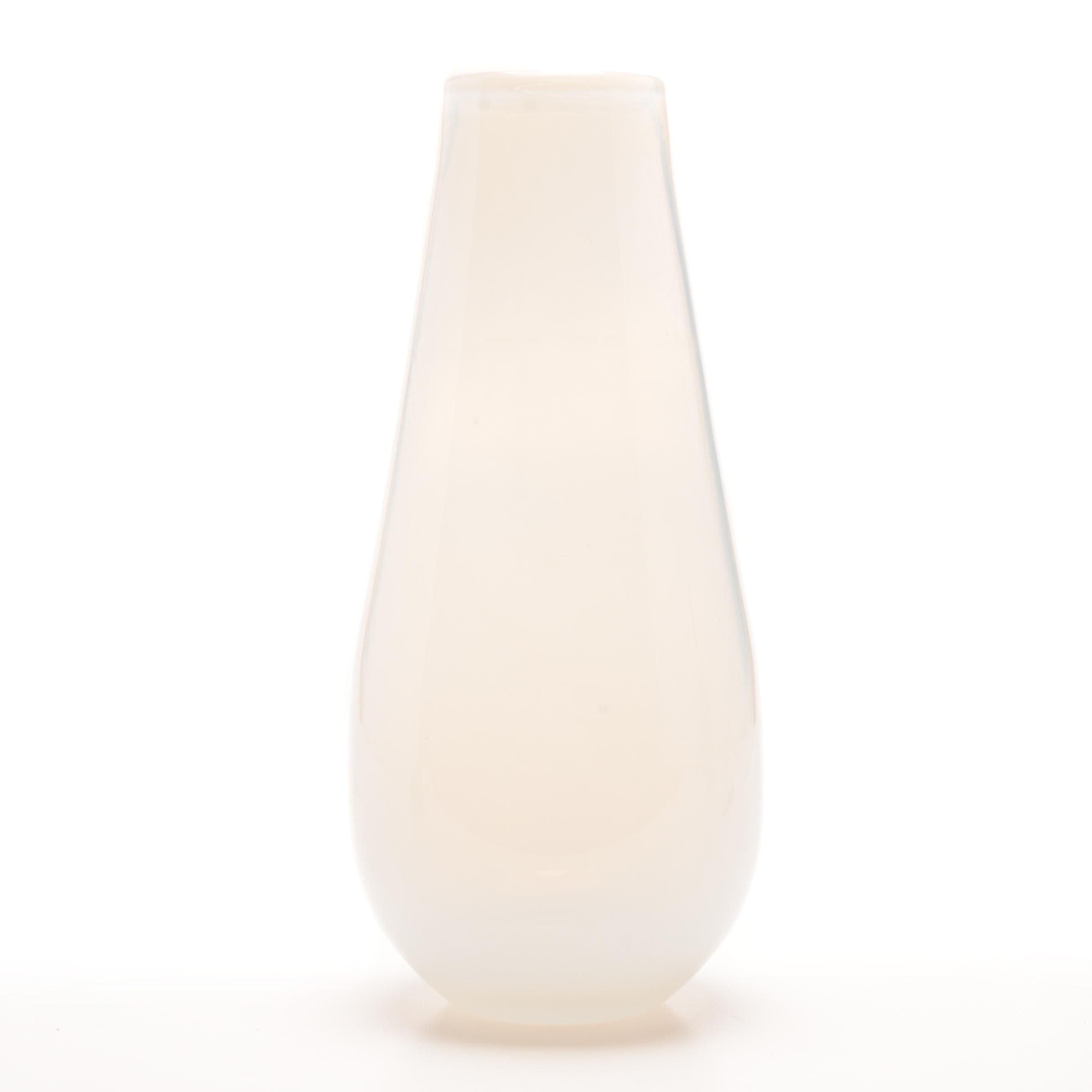 Art Glass Opalescent Blown Vase