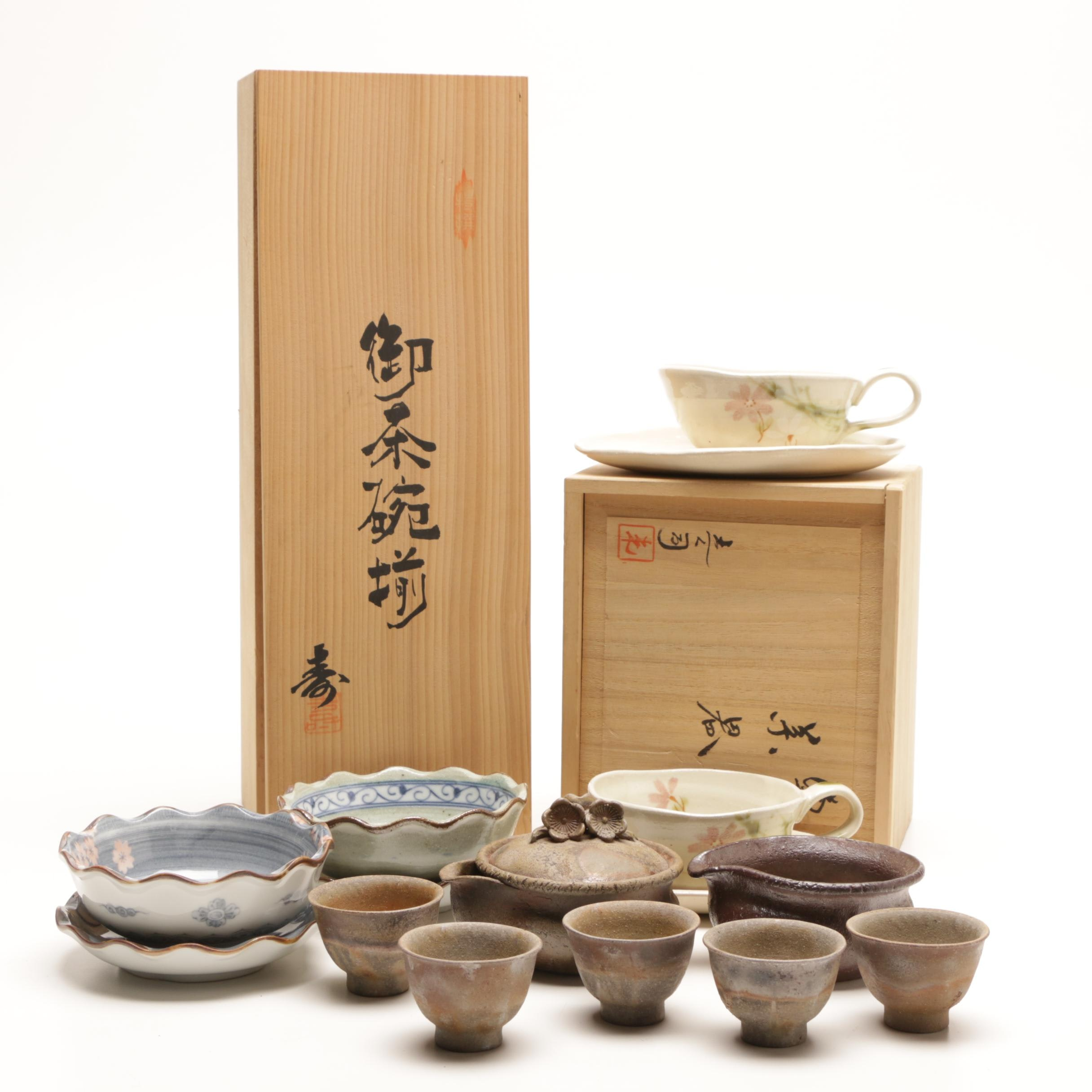 Selection of Japanese Pottery