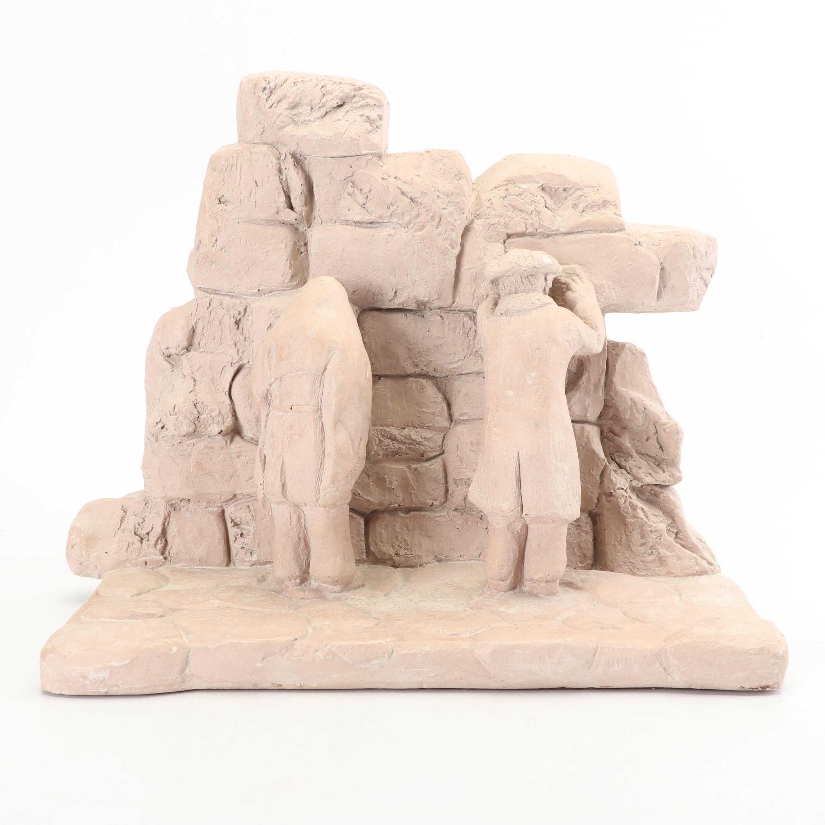 "Synteli Austin Productions Sculpture ""Western Wall in Jerusalem"""