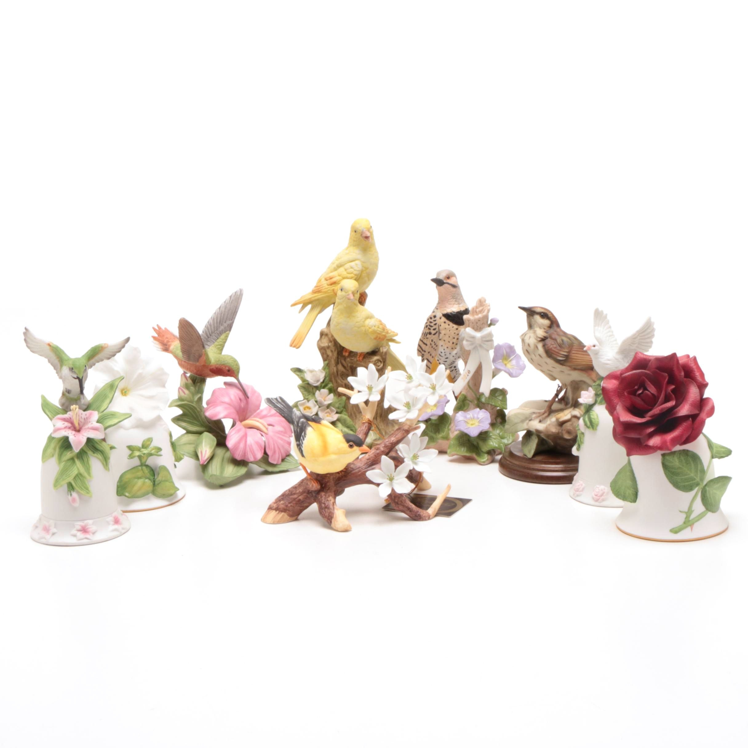 Grouping of Porcelain Figurines Including Lenox