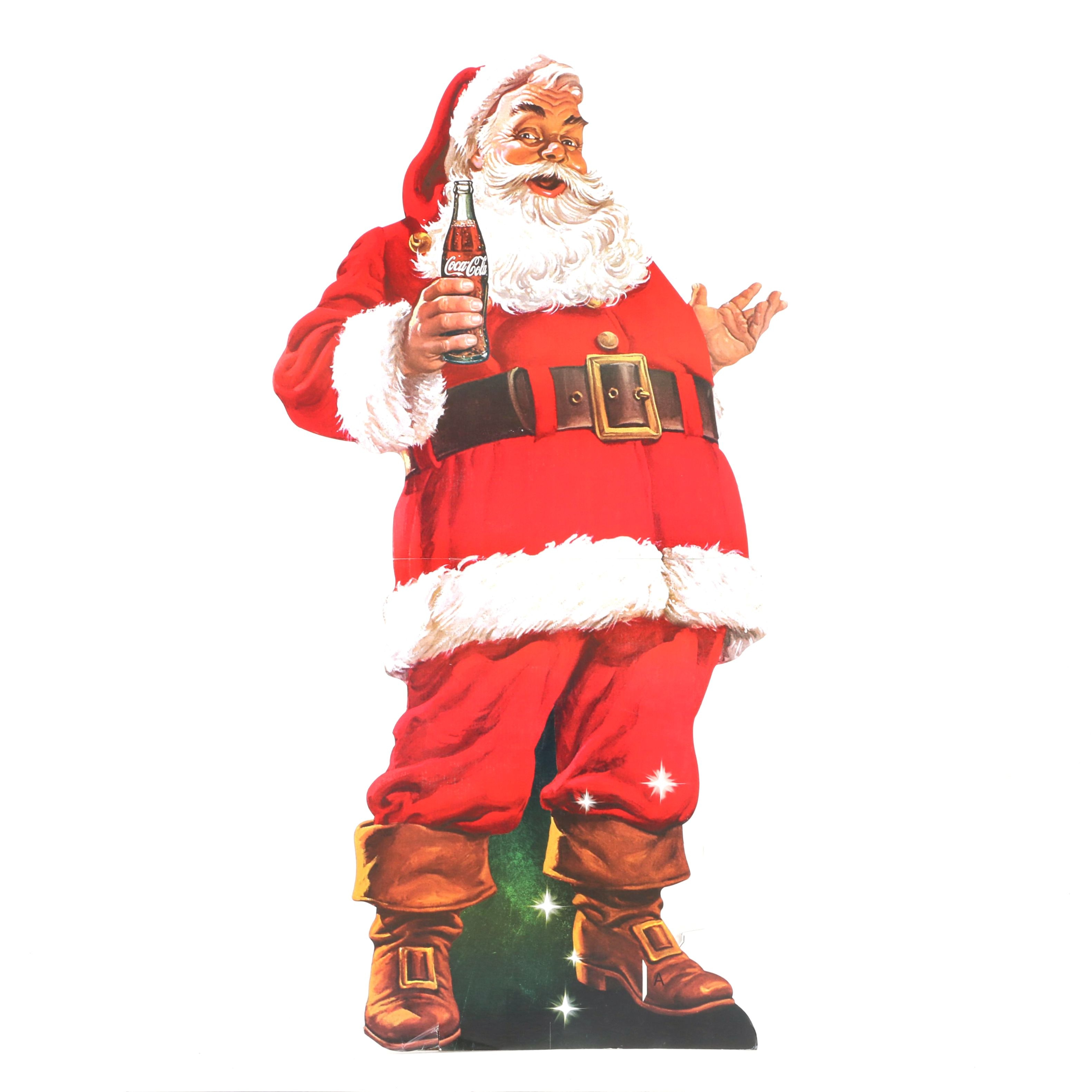 Full Sized Coca-Cola Santa Freestanding Cutout
